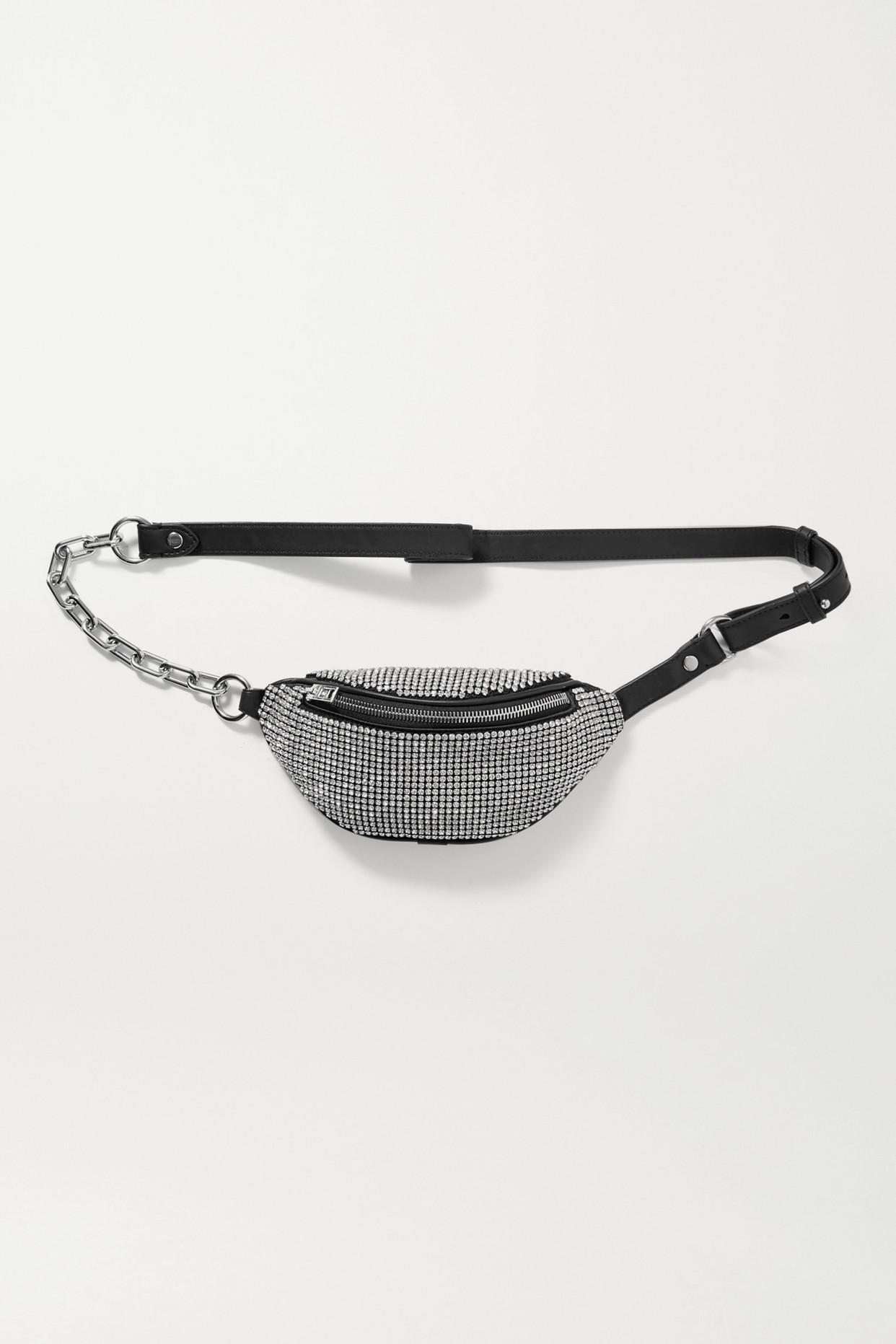 ALEXANDER WANG - Attica Mini Crystal-embellished Leather Belt Bag - Black - one size