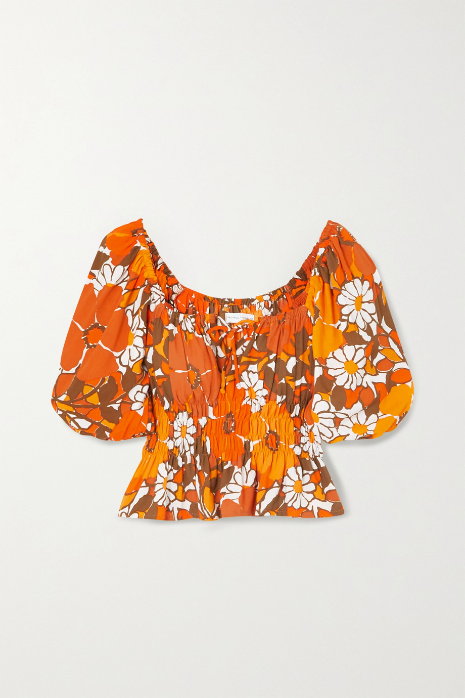 FAITHFULL THE BRAND + NET SUSTAIN Liberia shirred floral-print crepe top