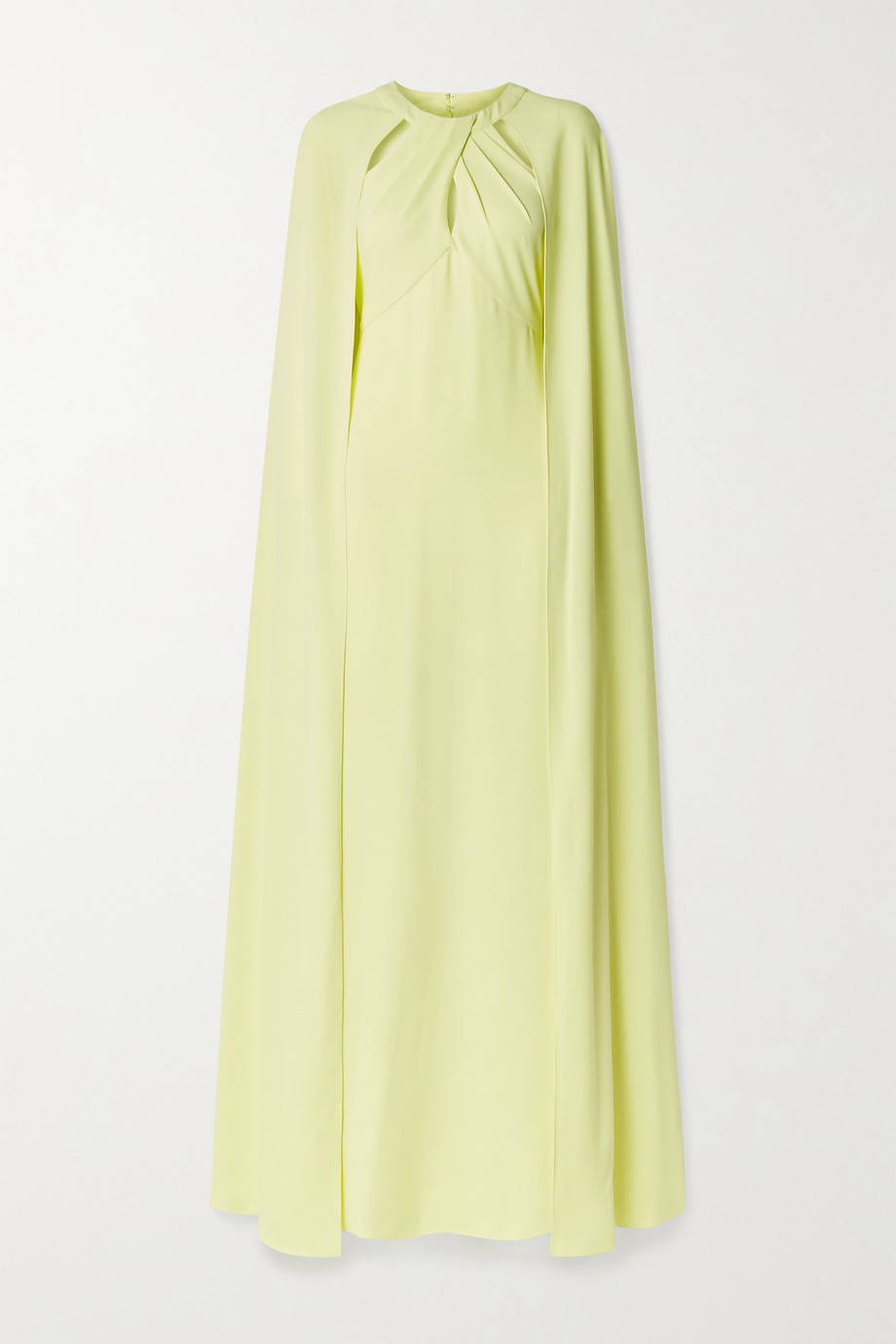 MARCHESA NOTTE Cape-effect cutout crepe gown