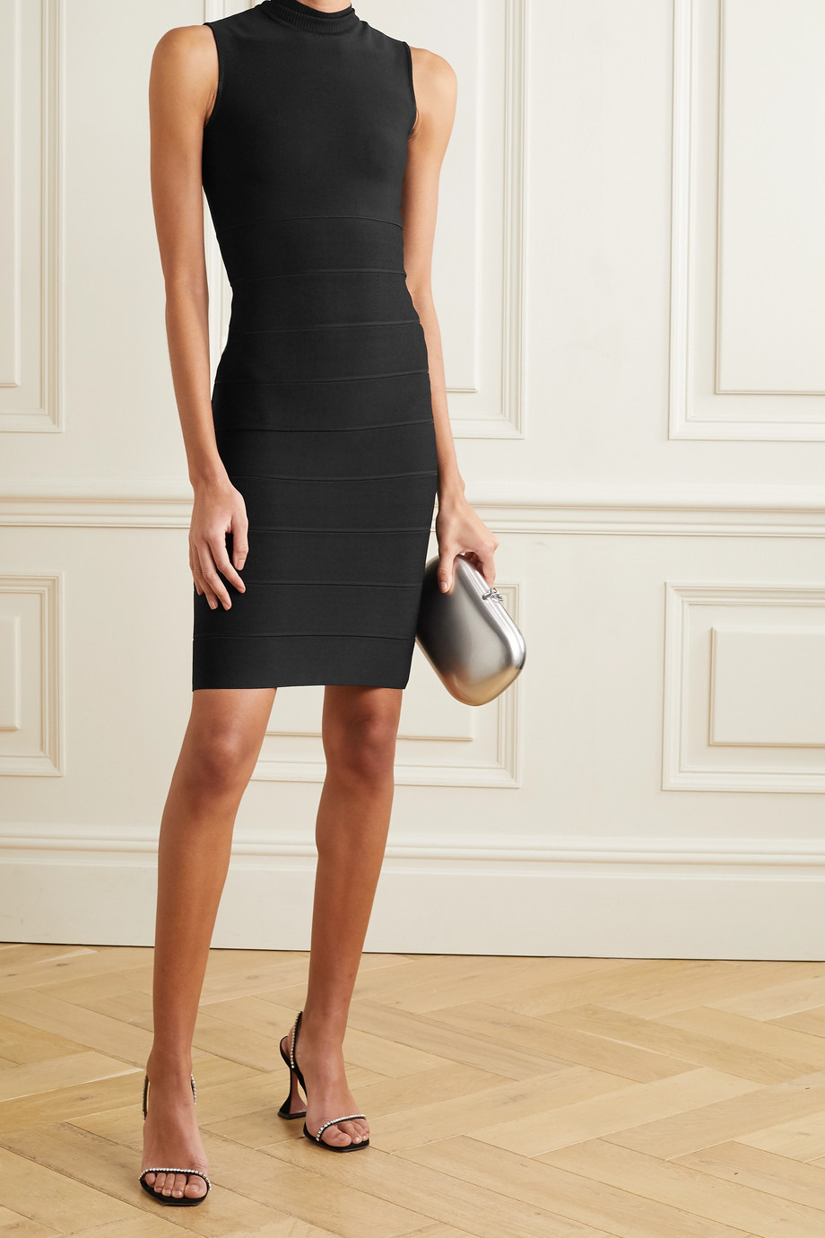 HERVÉ LÉGER Icon bandage turtleneck dress