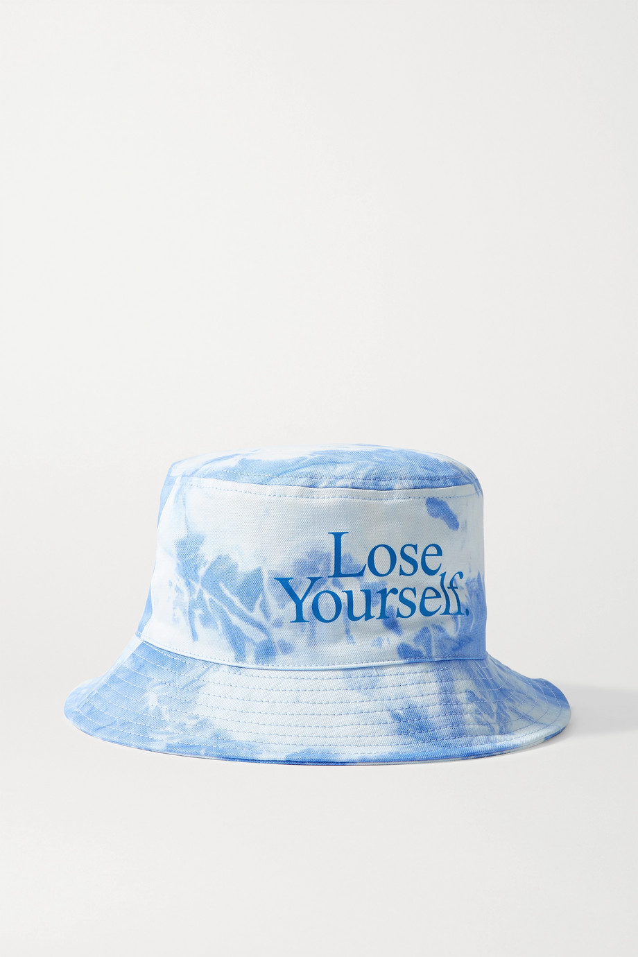 PACO RABANNE + Peter Saville printed tie-dyed cotton-canvas bucket hat