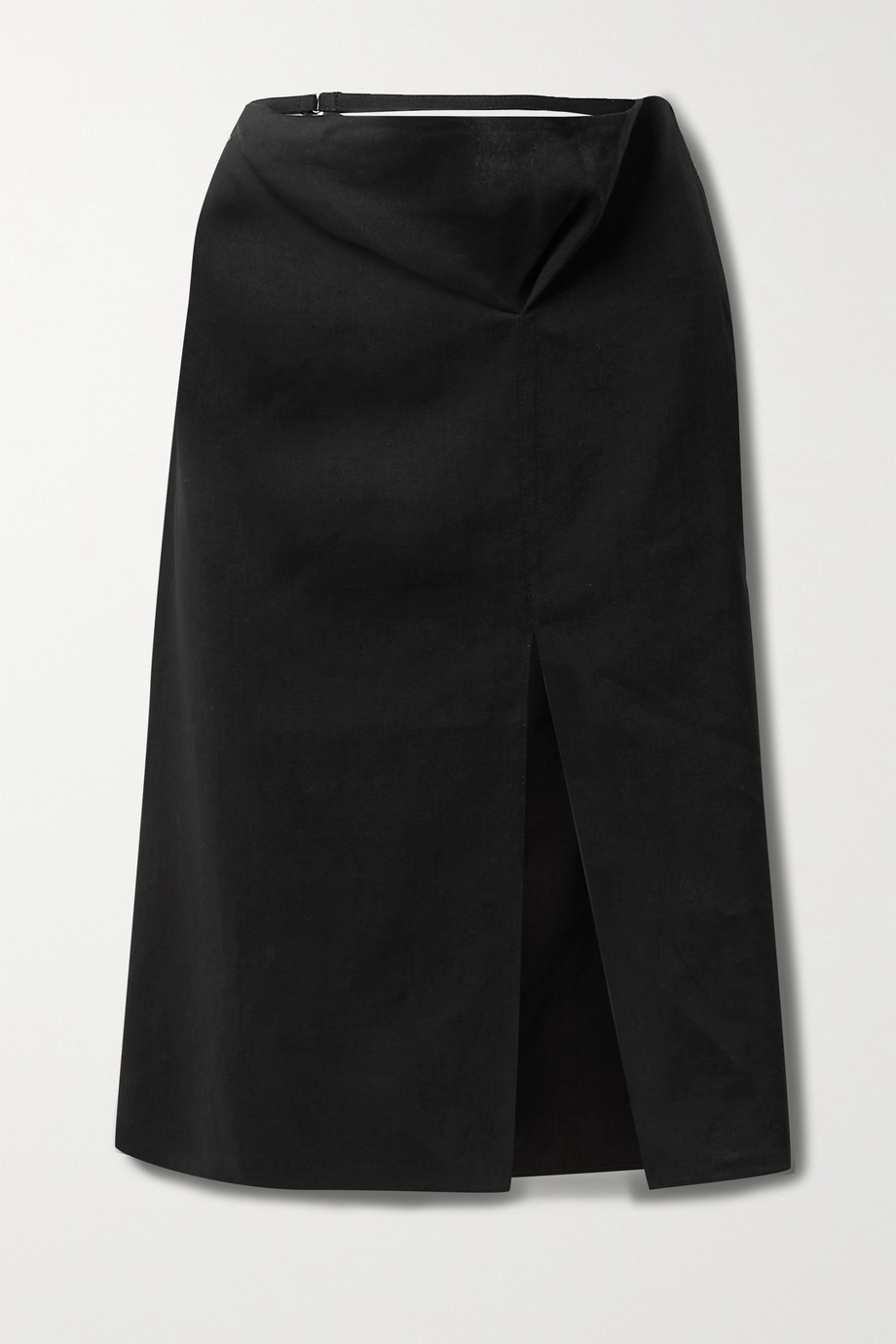 JACQUEMUS Cutout hemp-blend skirt