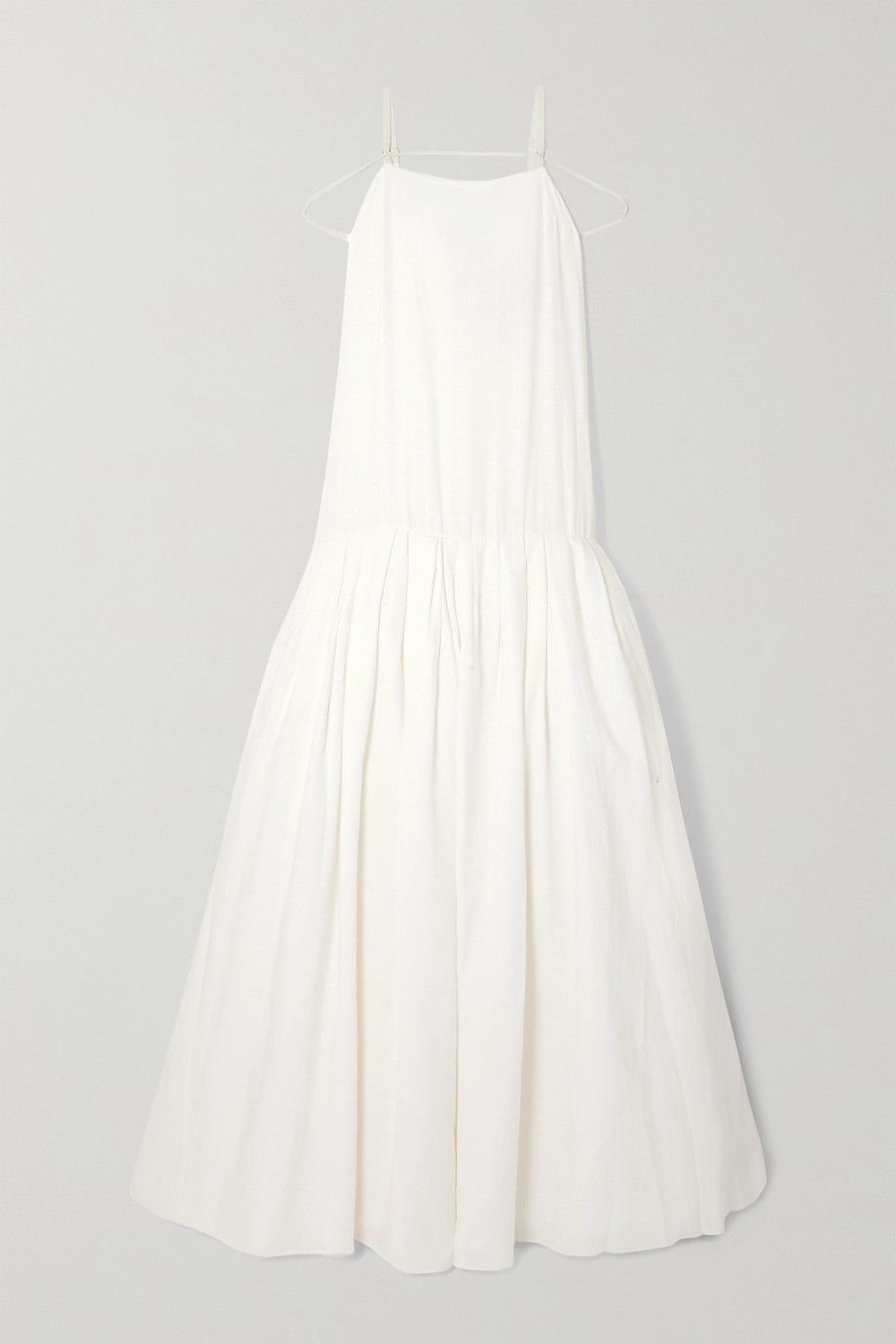 JACQUEMUS Amour tie-detailed linen-jacquard gown