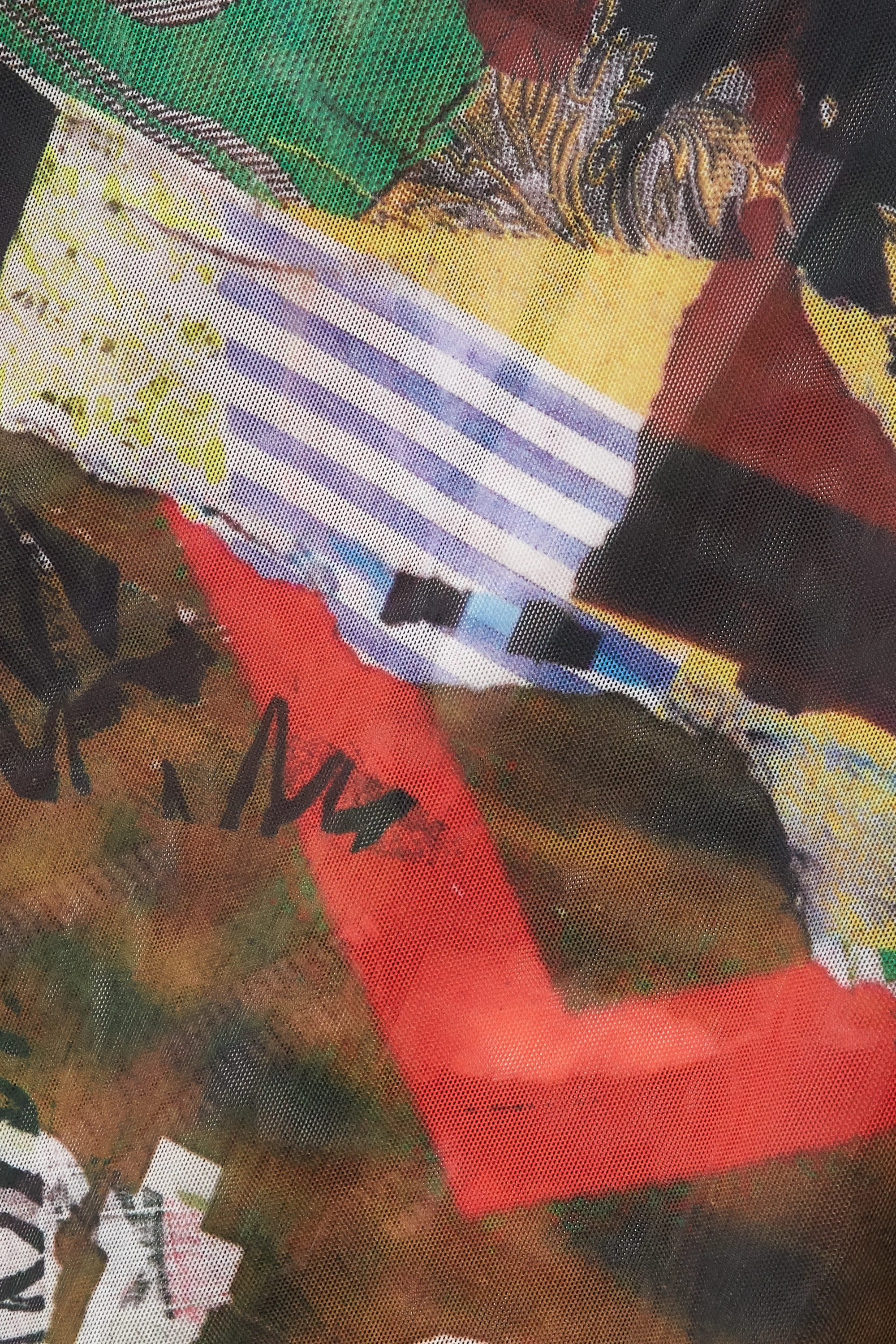 MARQUES' ALMEIDA + NET SUSTAIN ReM'Ade by Marques' Almeida printed stretch-mesh top