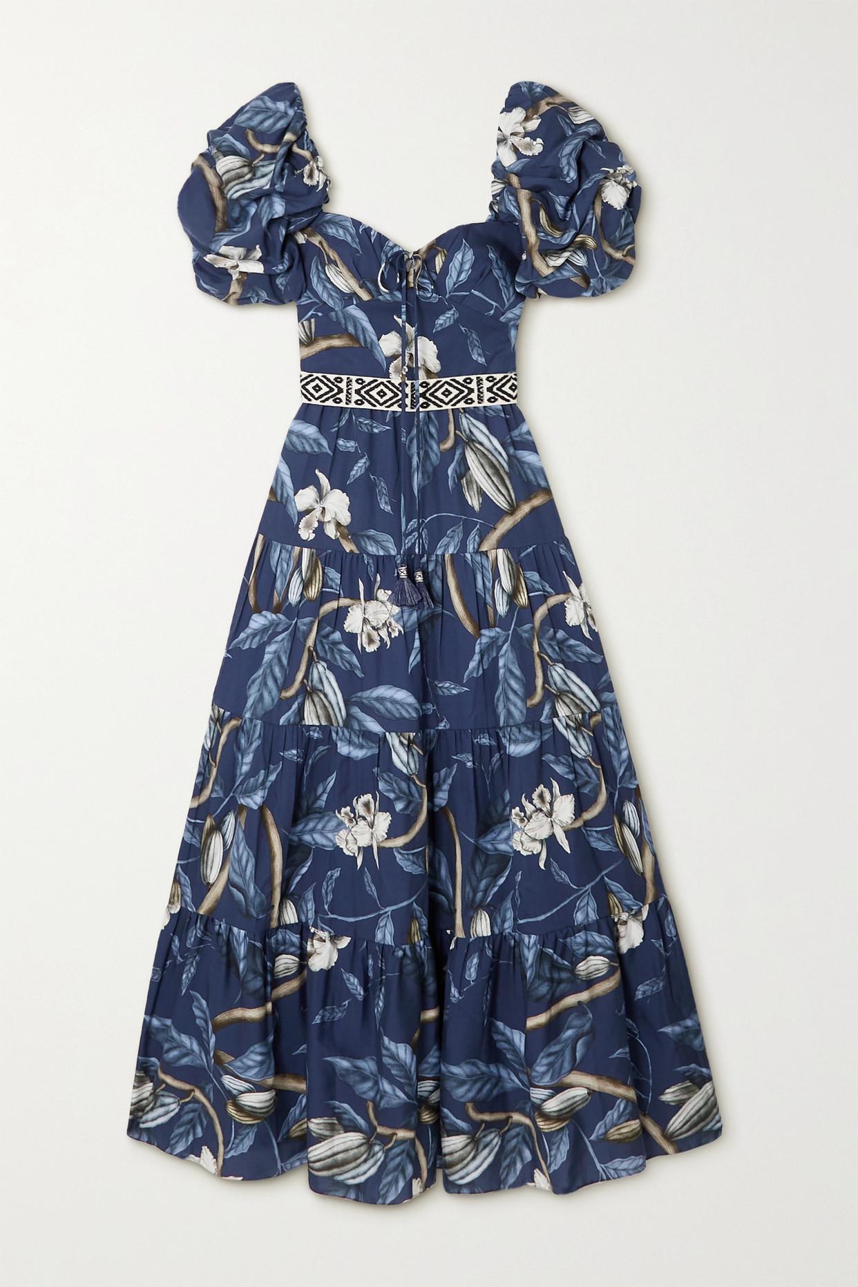 JOHANNA ORTIZ - + Net Sustain Botanical Heritage Tiered Floral-print Tencel Midi Dress - Blue - US6