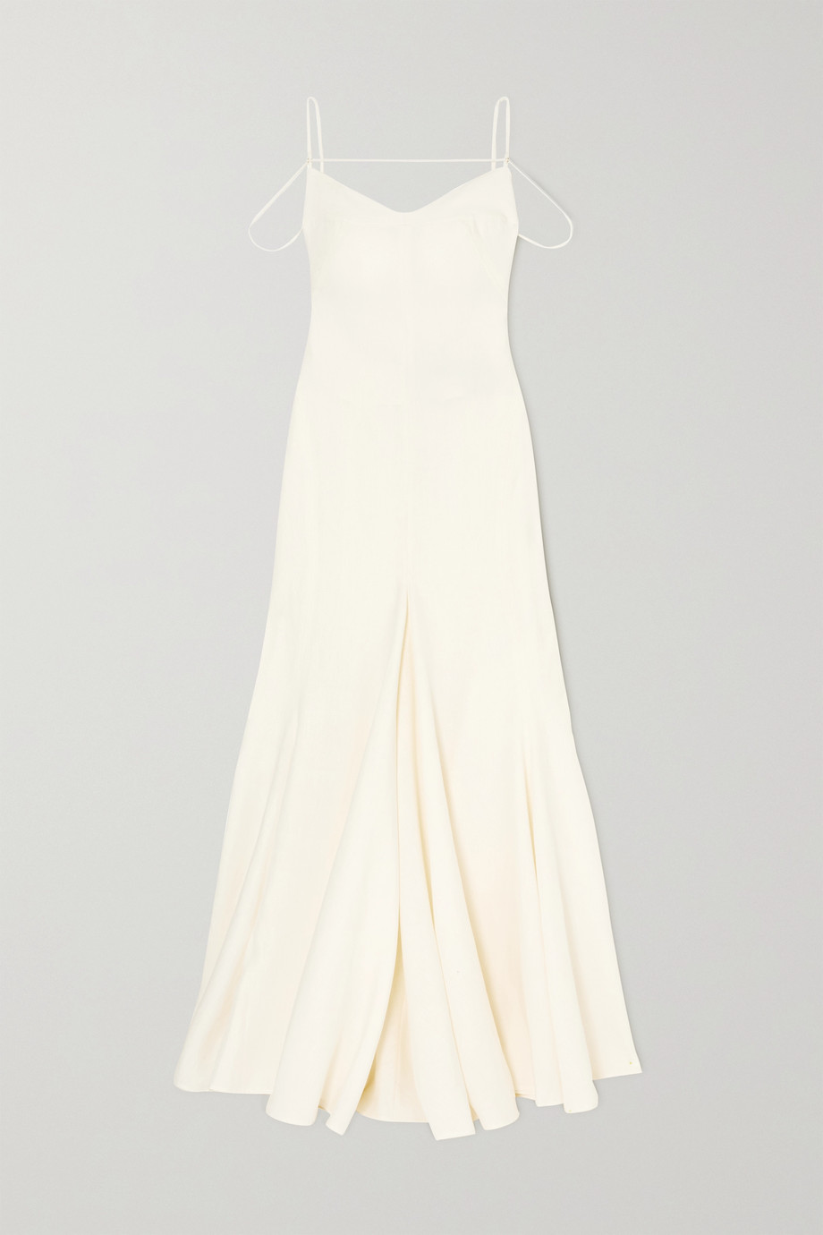 JACQUEMUS Open-back cutout linen gown