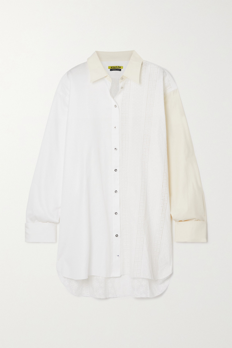 MARQUES' ALMEIDA + NET SUSTAIN ReM'Ade by Marques' Almeida two-tone paneled cotton shirt