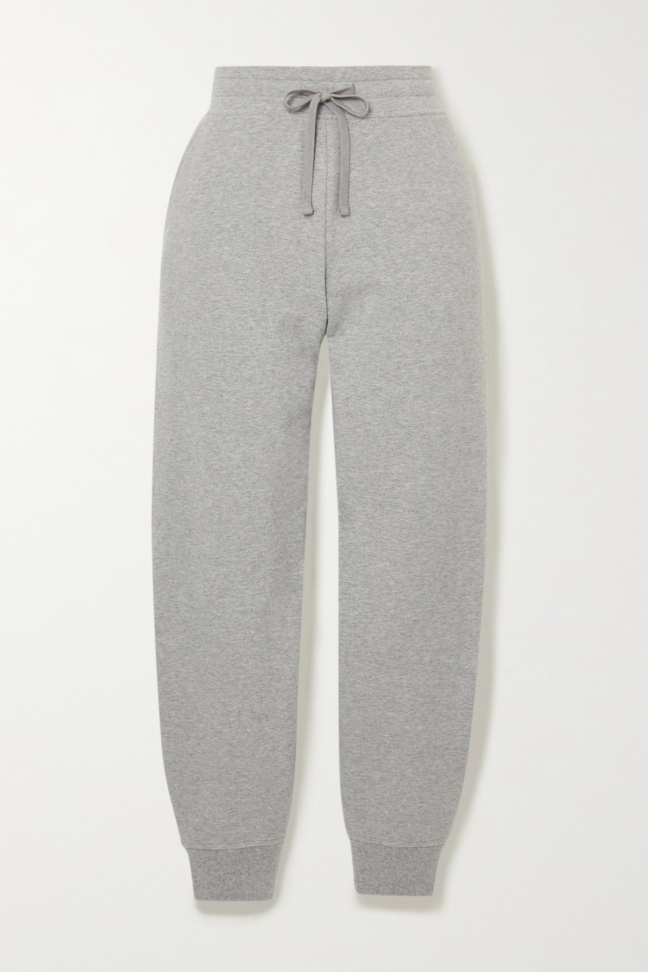 VINCE Mélange French organic cotton-blend terry track pants
