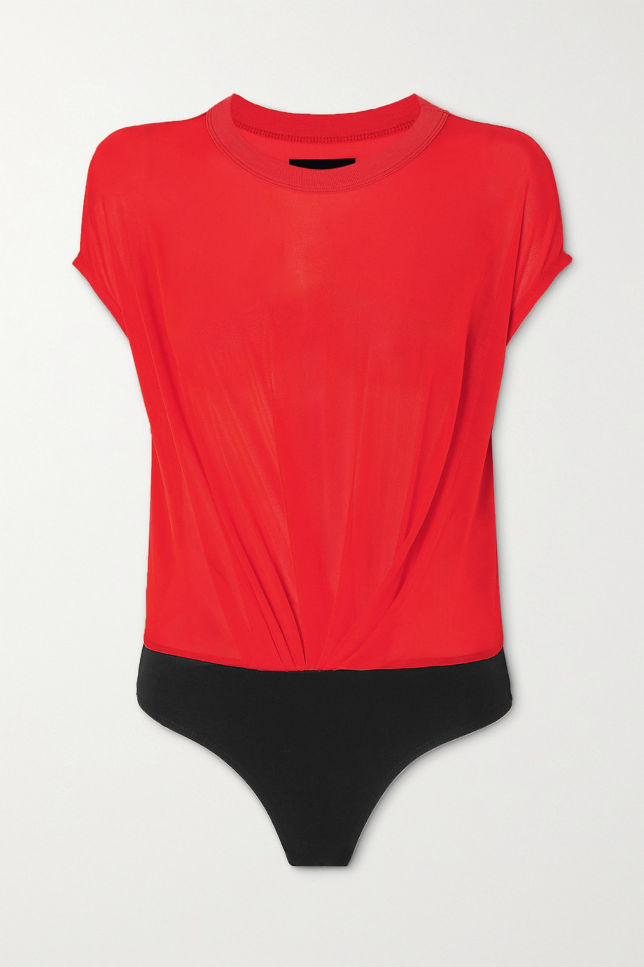 RTA Halle cupro-blend and stretch-jersey bodysuit