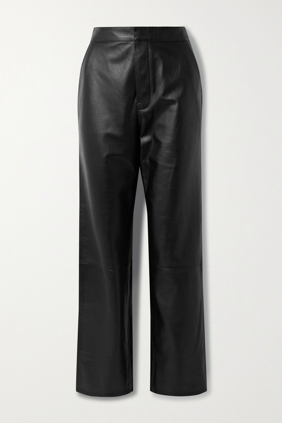 RTA Manon leather wide-leg pants