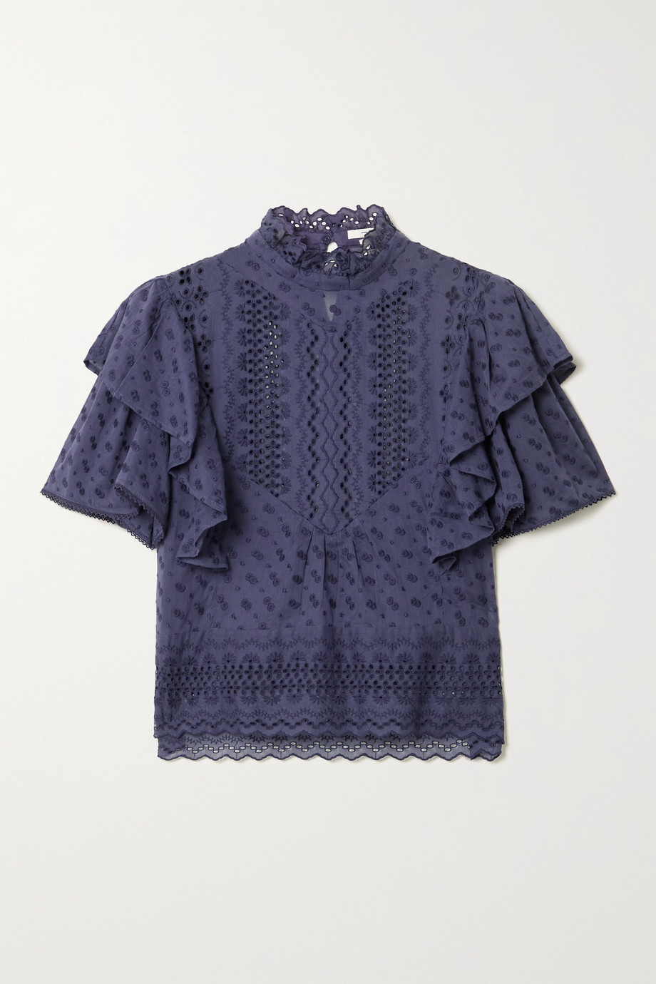 ISABEL MARANT ÉTOILE Tizaina ruffled broderie anglaise cotton blouse