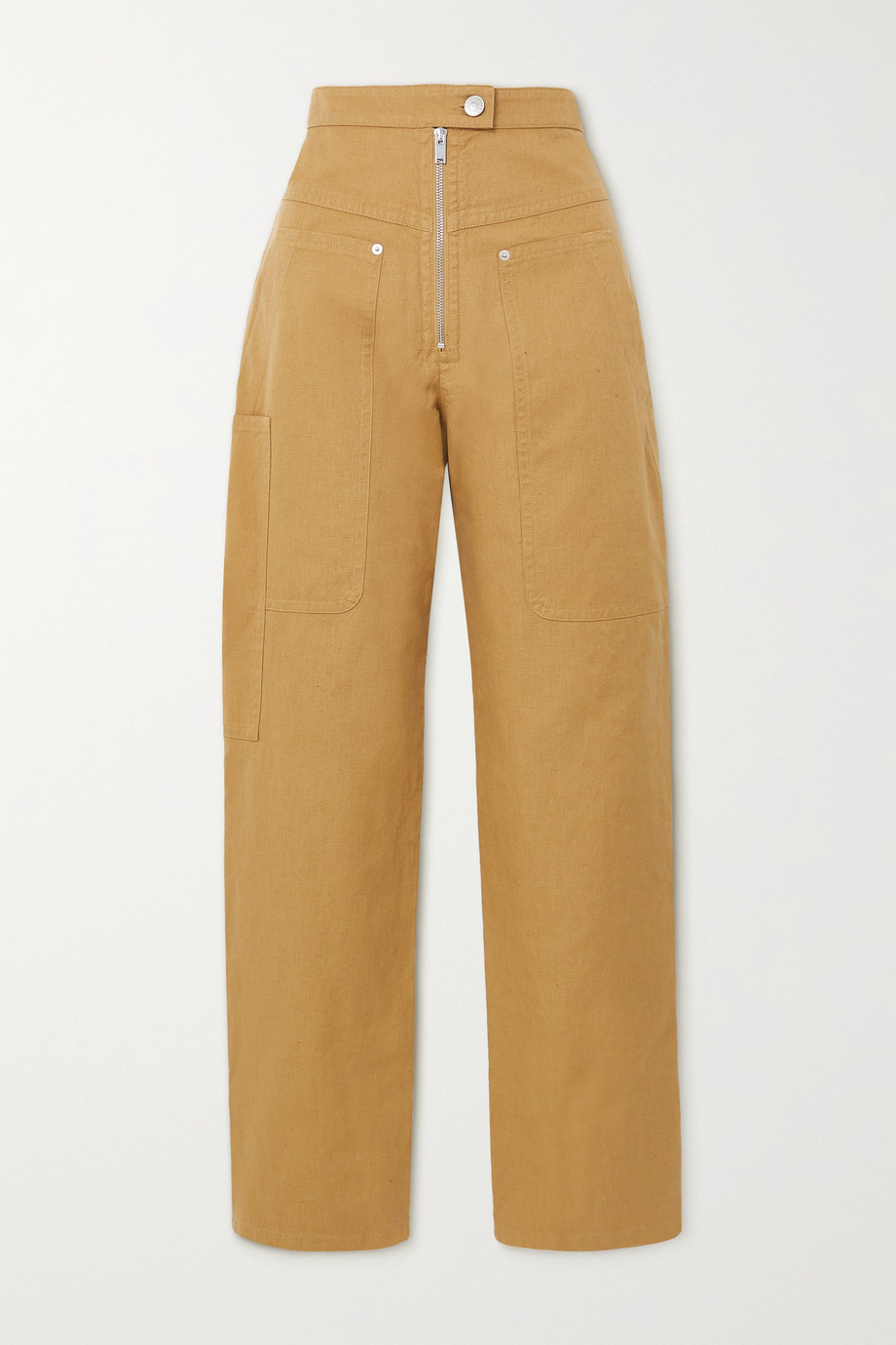 ISABEL MARANT ÉTOILE Phil cotton and linen-blend tapered pants