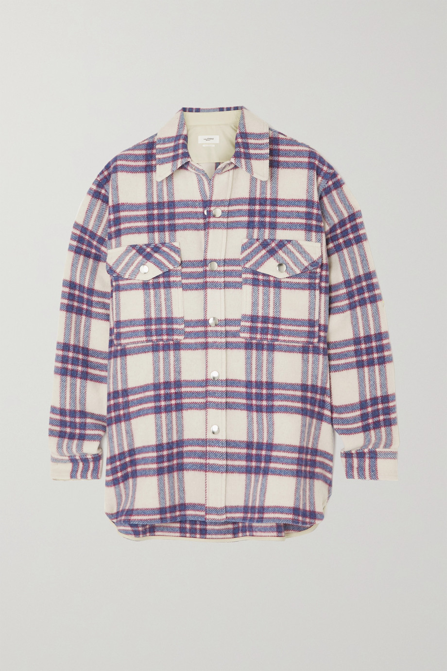 ISABEL MARANT ÉTOILE Faxonli checked wool-blend jacket