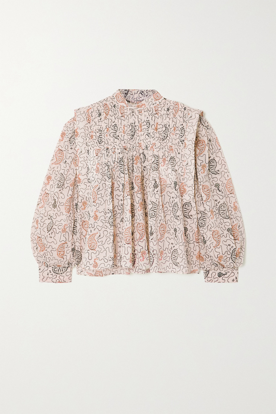 ISABEL MARANT ÉTOILE Vega pleated paisley-print cotton-voile blouse