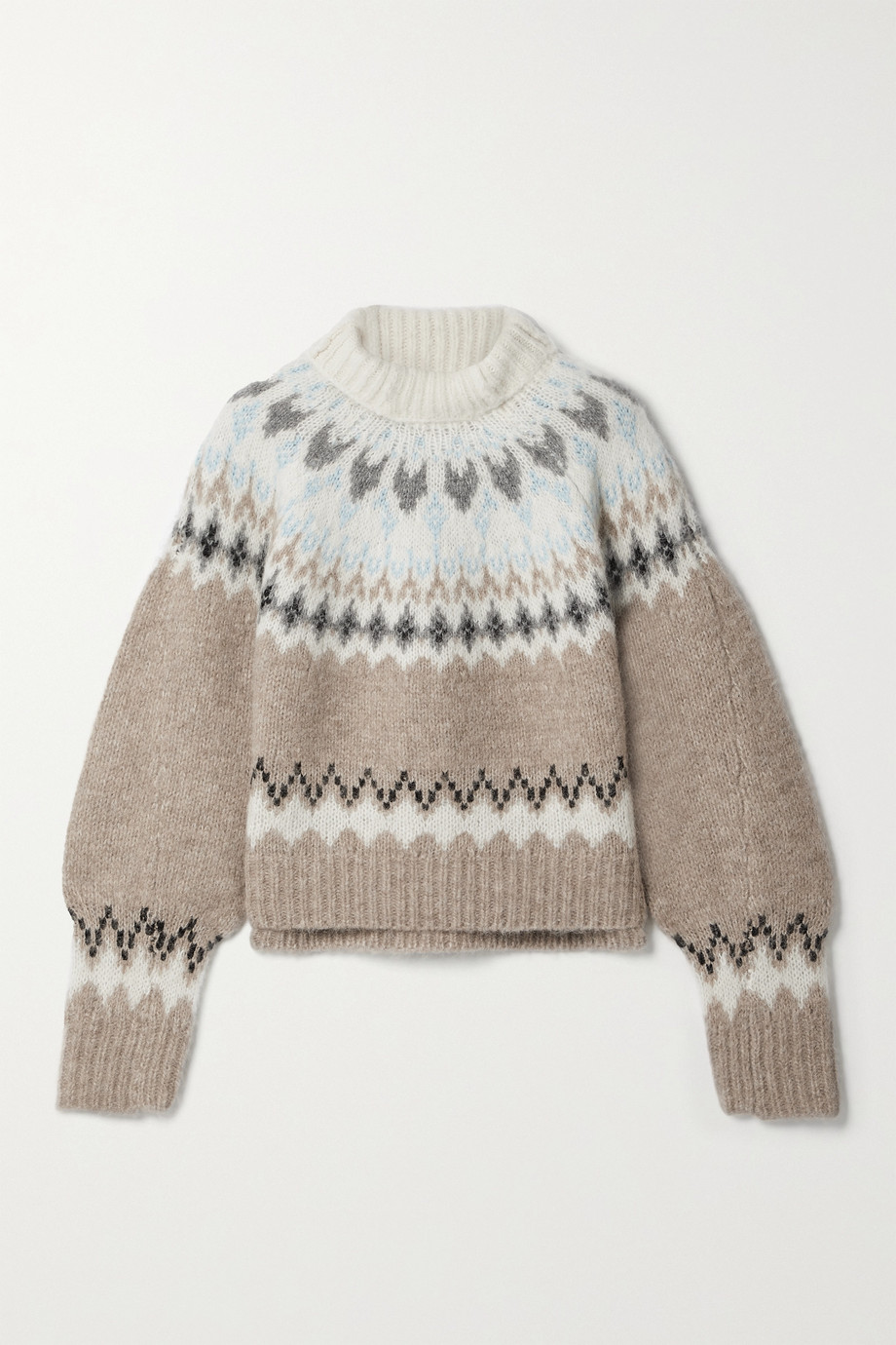 RAG & BONE Fran Fair Isle alpaca-blend turtleneck sweater