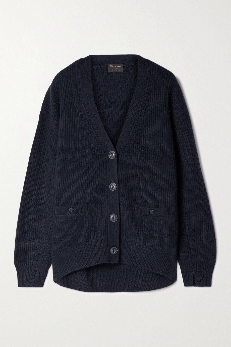 RAG & BONE Pierce ribbed cashmere cardigan