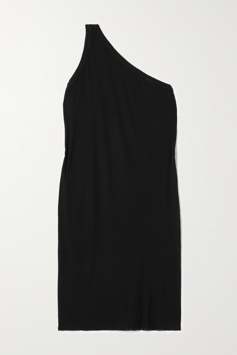 RICK OWENS Anthem one-shoulder ribbed jersey mini dress