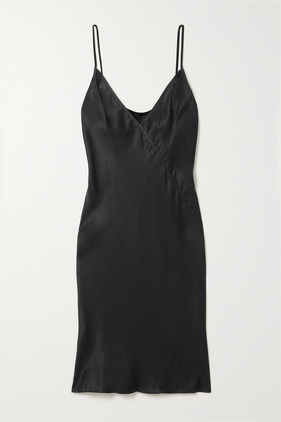 RICK OWENS Pandora paneled cupro mini dress