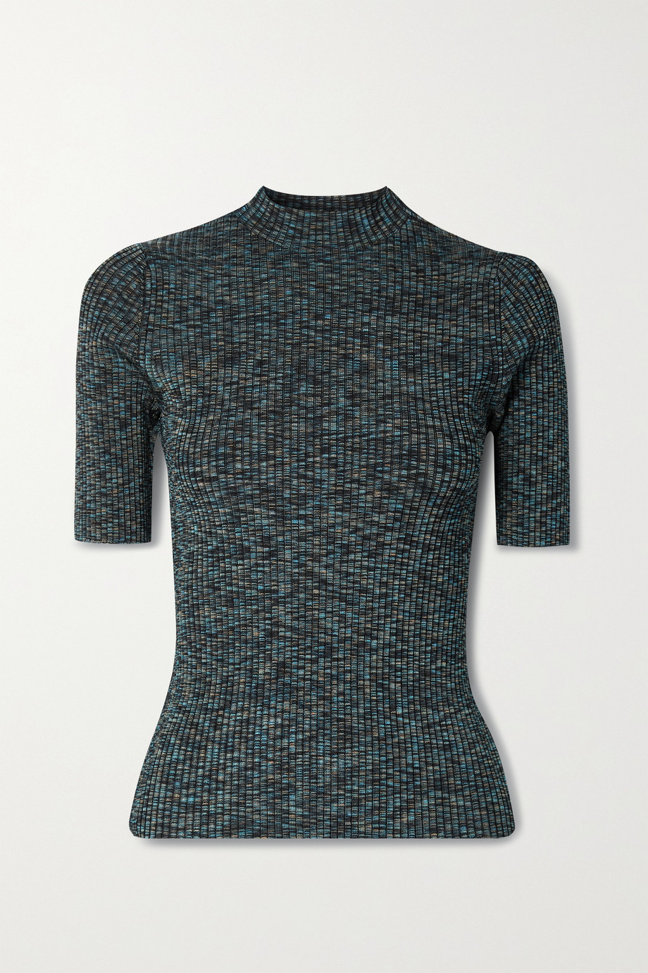 THEORY Leenda space-dyed ribbed-knit top