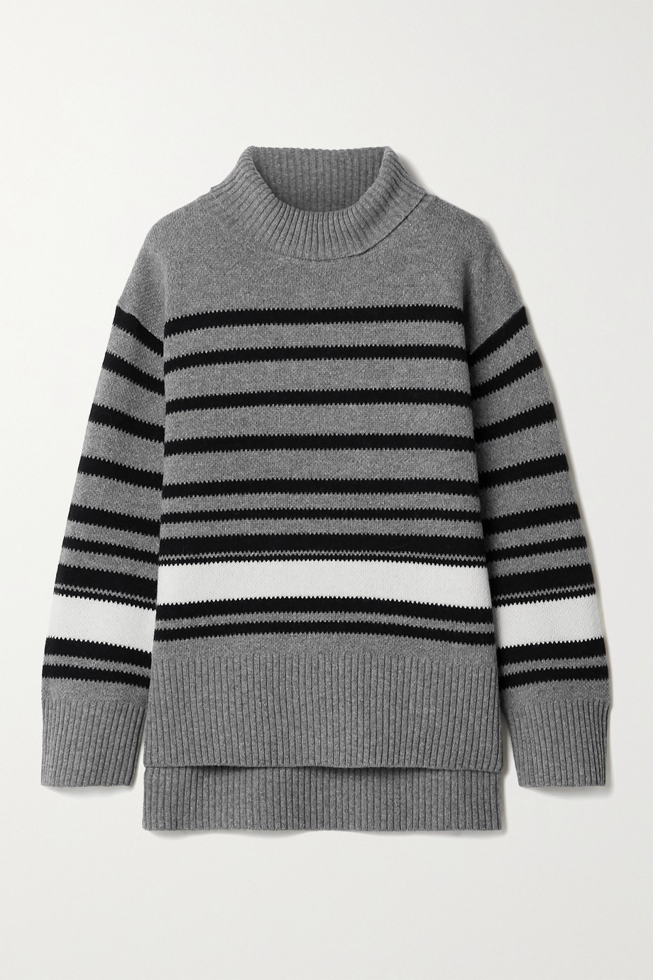 BY MALENE BIRGER Hedera oversized striped wool-blend turtleneck sweater