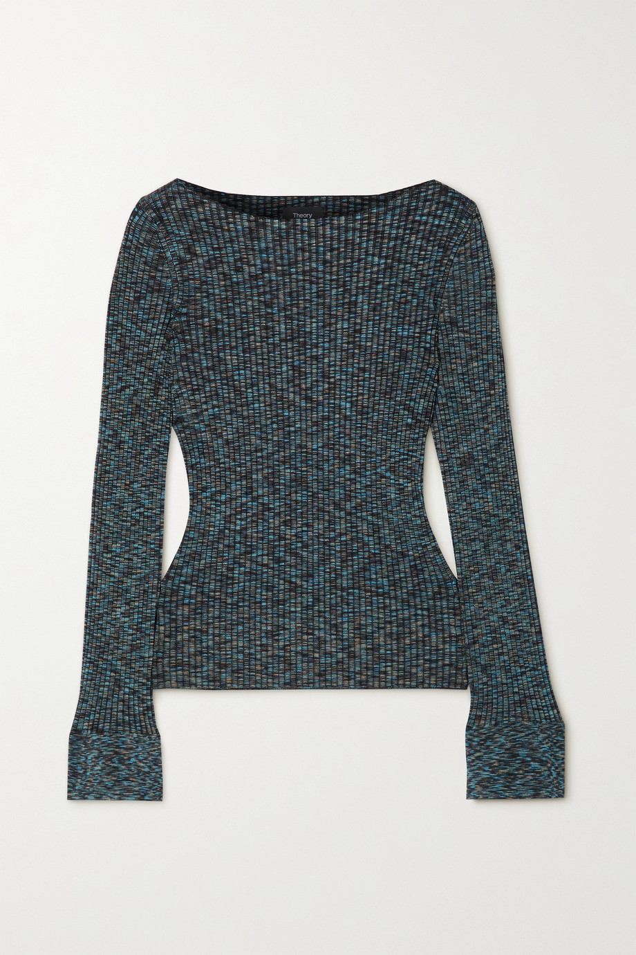 THEORY Ribbed-knit space-dyed sweater