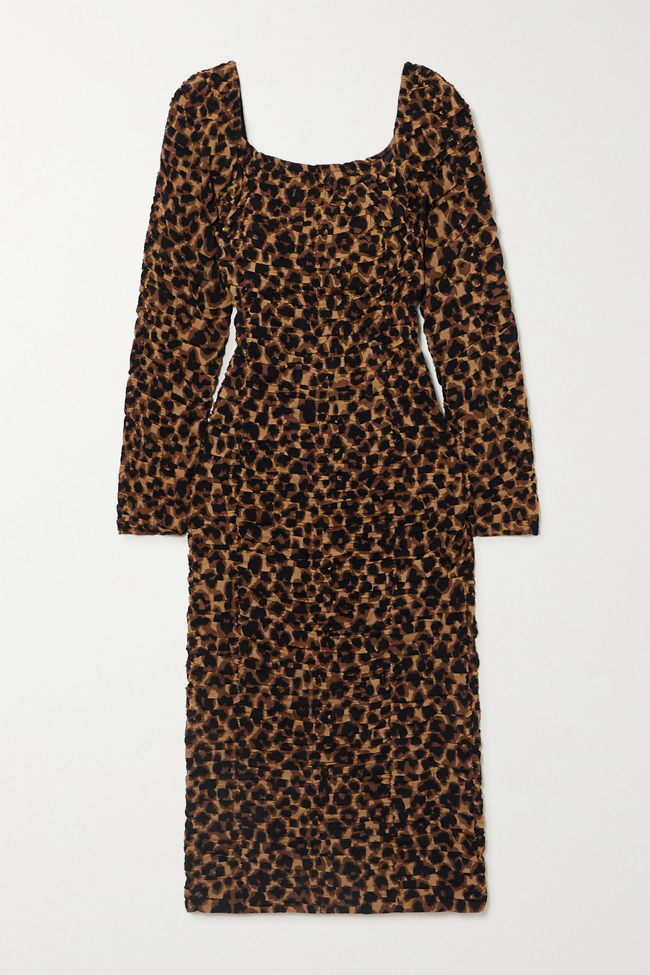 BY MALENE BIRGER Amyna ruched leopard-print stretch-jersey midi dress