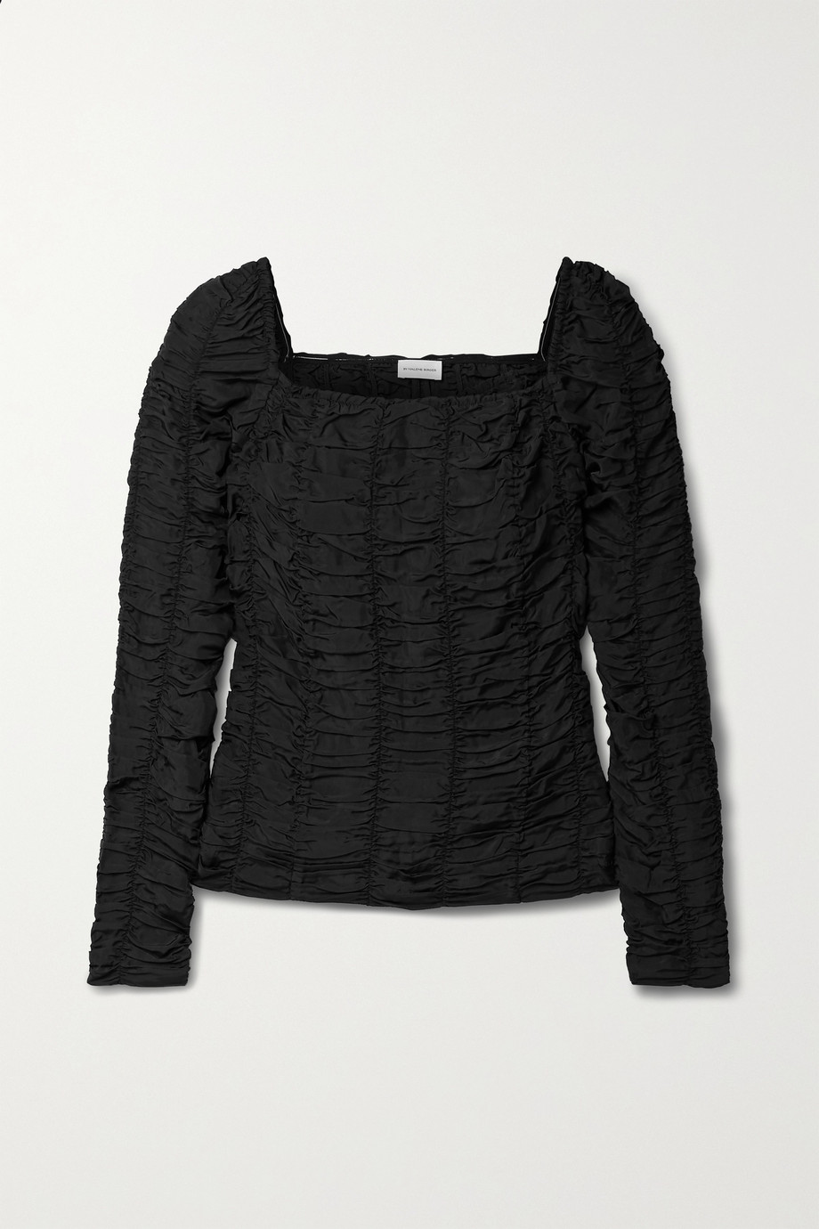 BY MALENE BIRGER Matelea ruched taffeta top