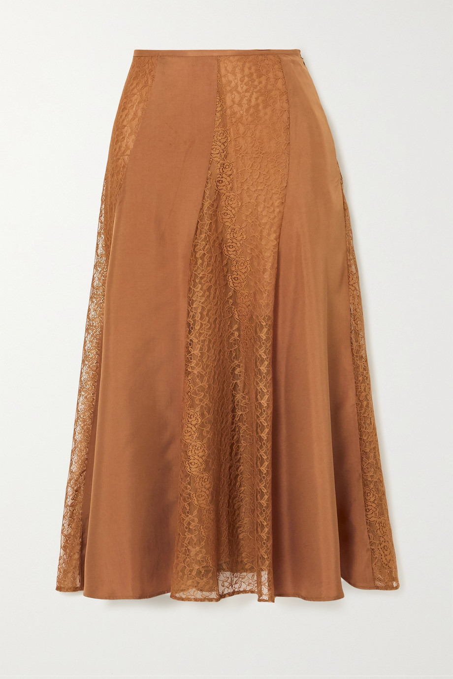 BY MALENE BIRGER Stelma satin and lace midi skirt