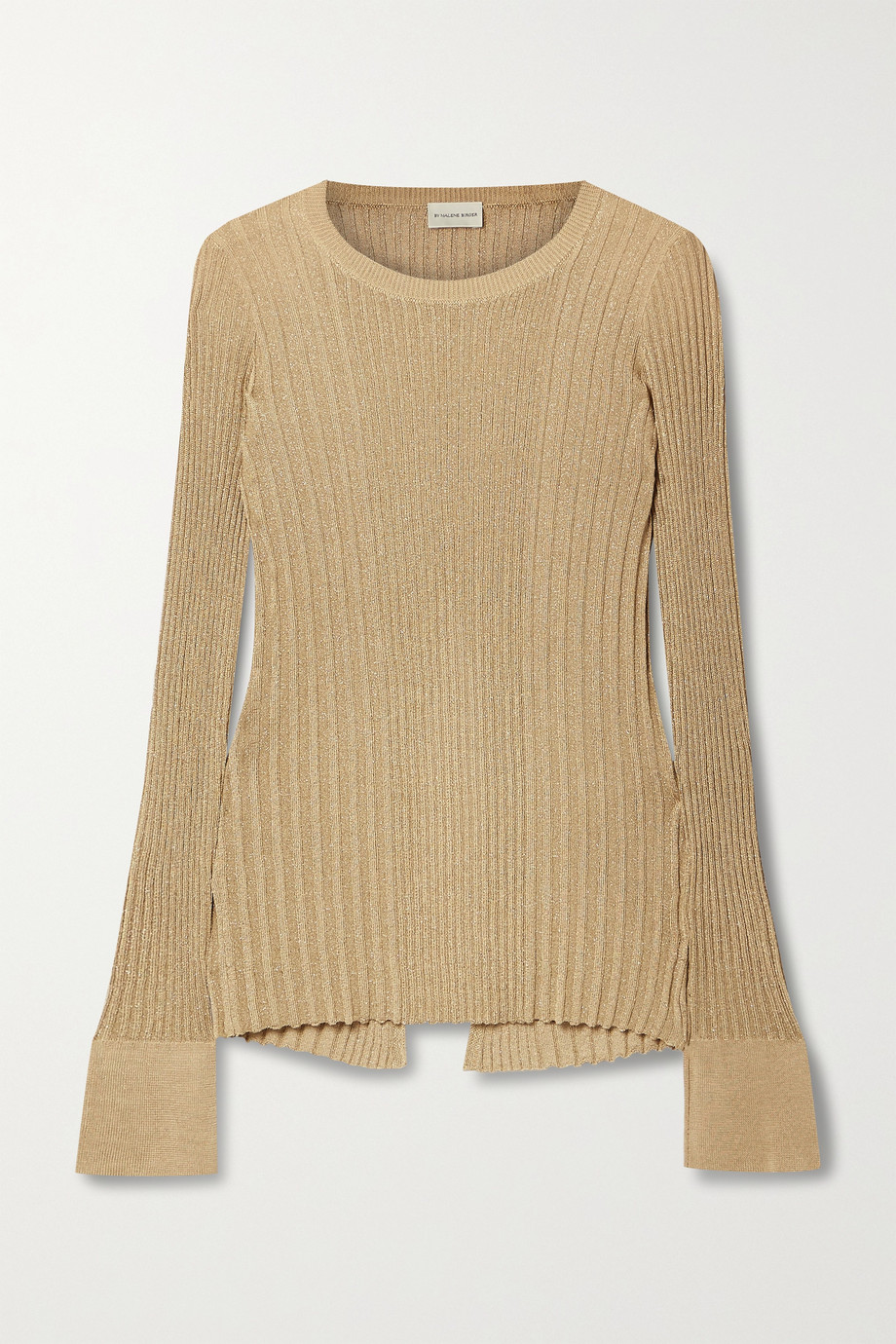 BY MALENE BIRGER Orlia metallic ribbed-knit top