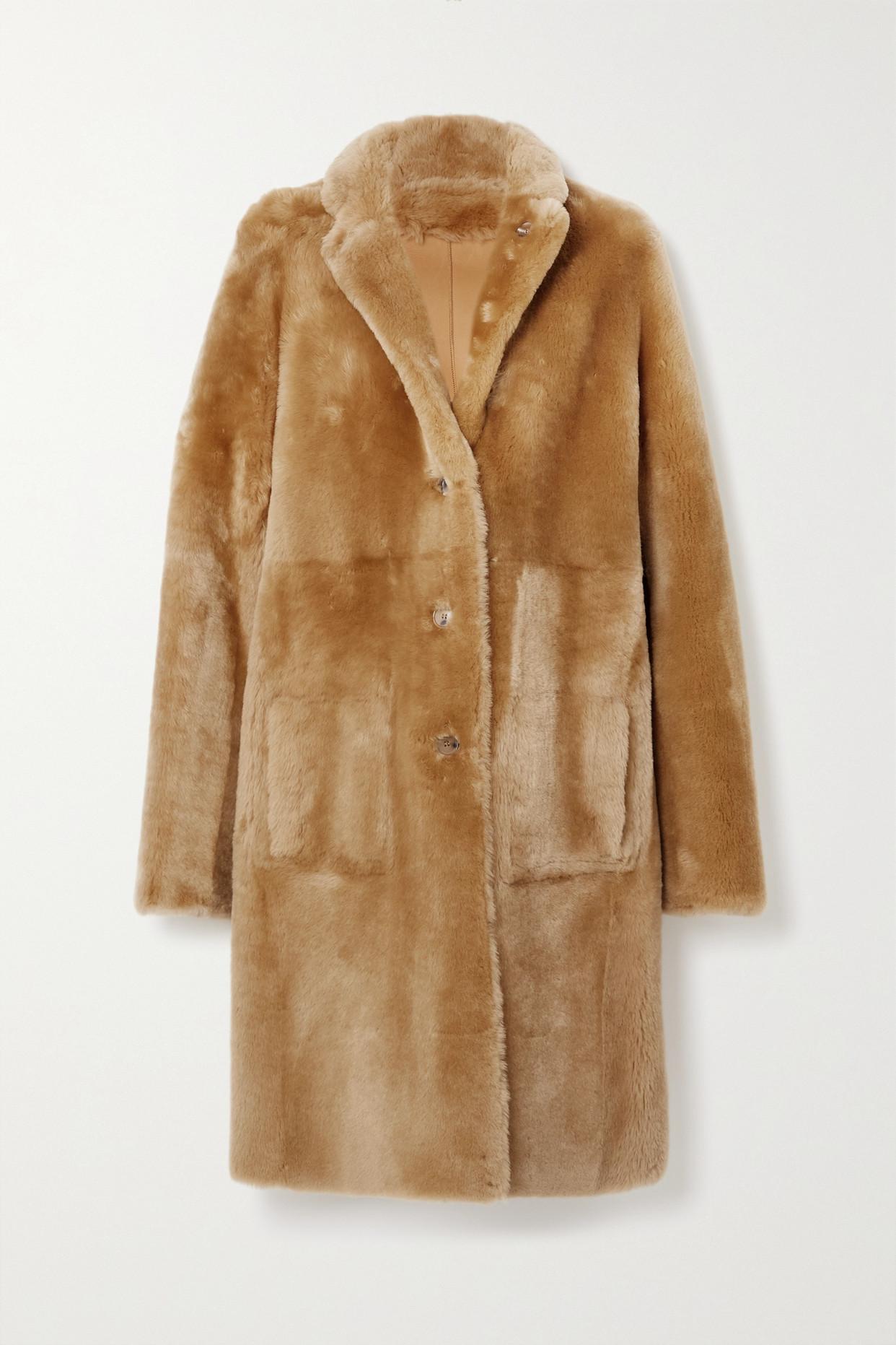 JOSEPH - Brittany 正反两穿羊毛皮外套 - 棕色 - FR40