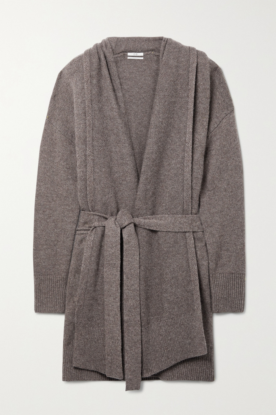 CO Belted wool and cashmere-blend cardigan