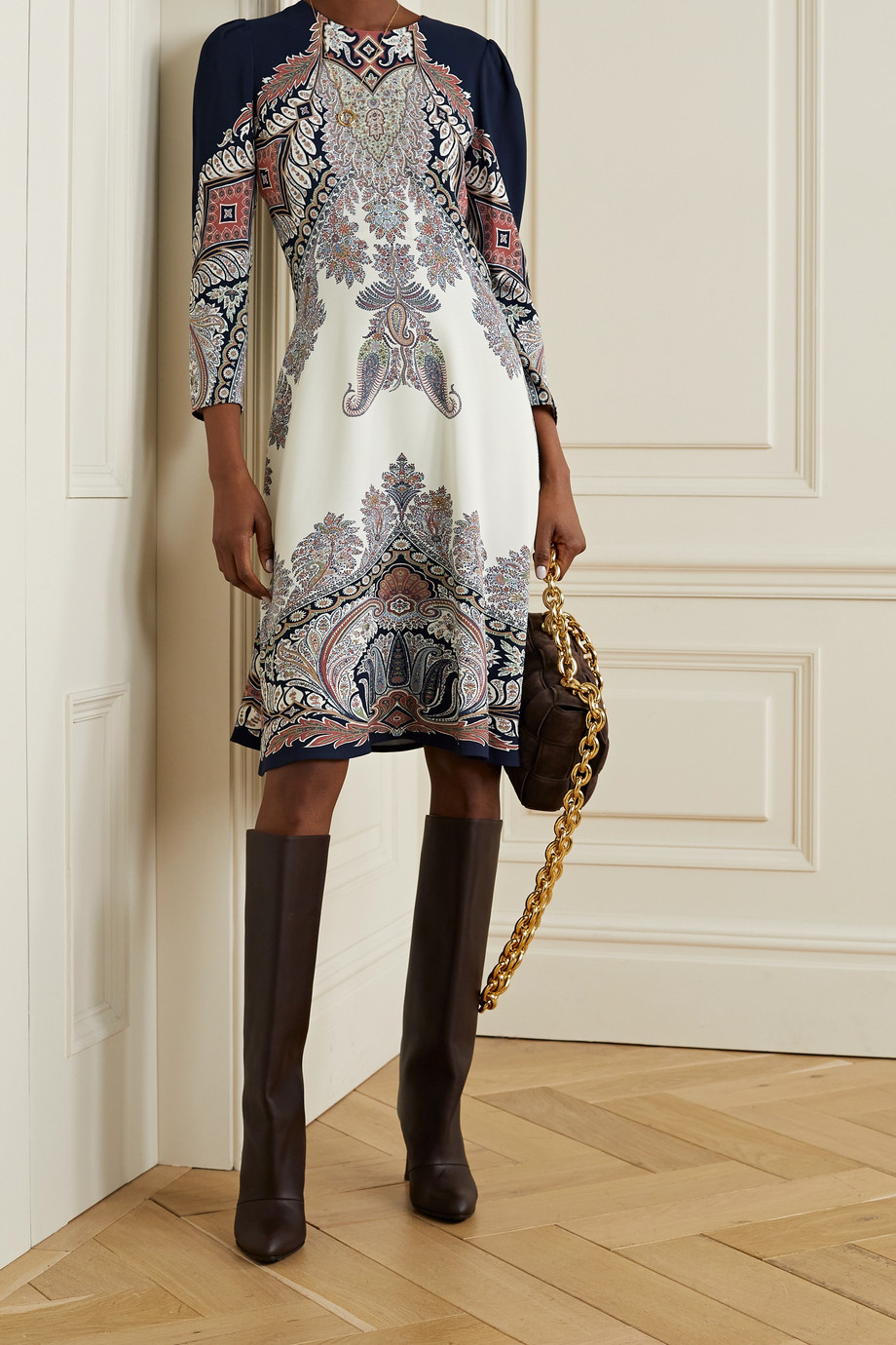 ETRO Paisley-print crepe dress