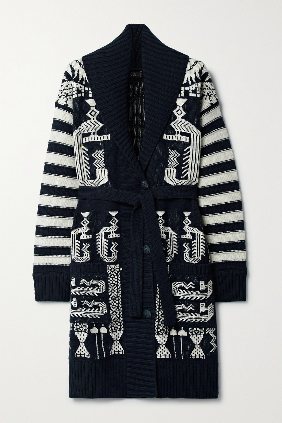 ETRO Wool and cotton-blend jacquard cardigan