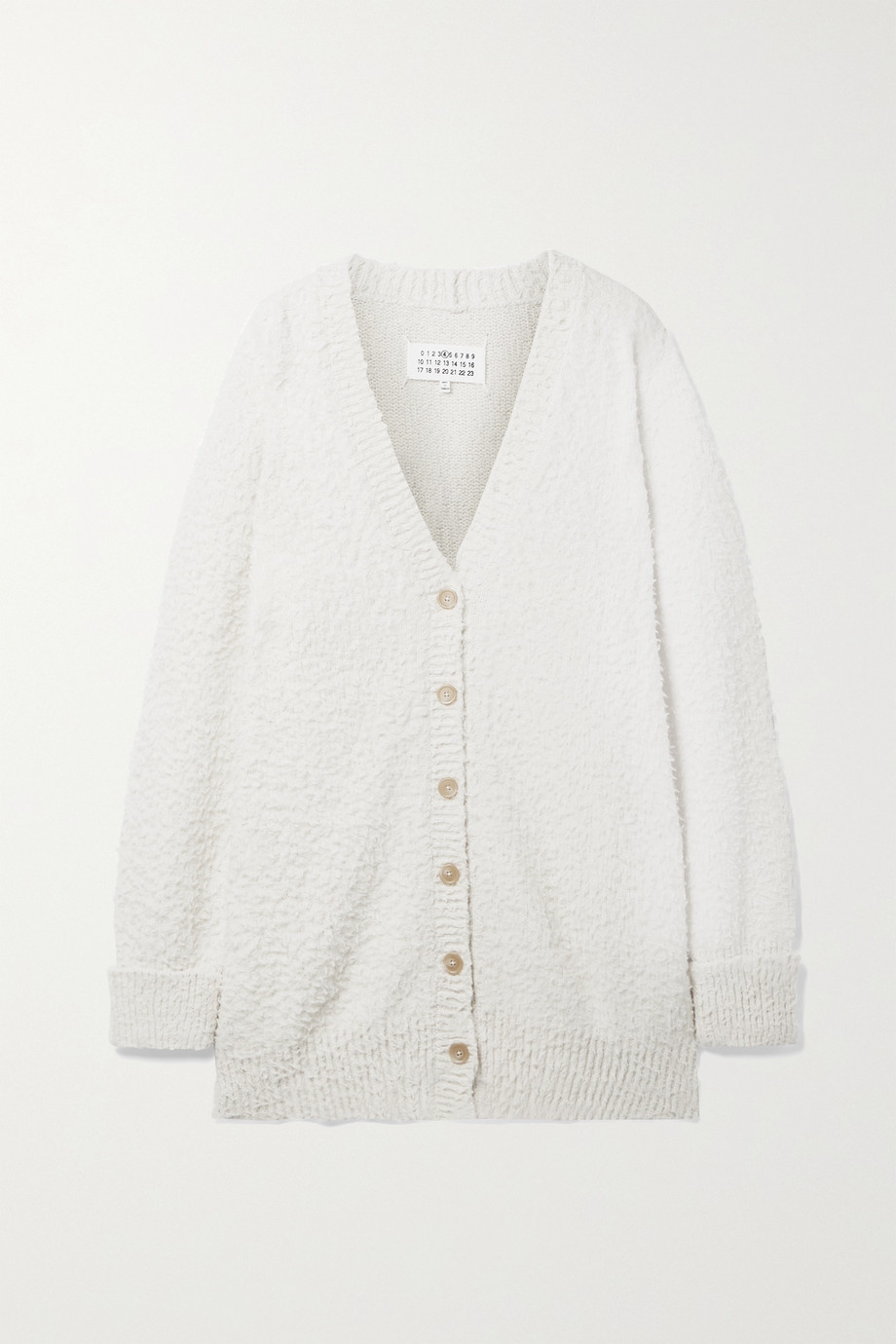MAISON MARGIELA Oversized cotton-blend bouclé cardigan