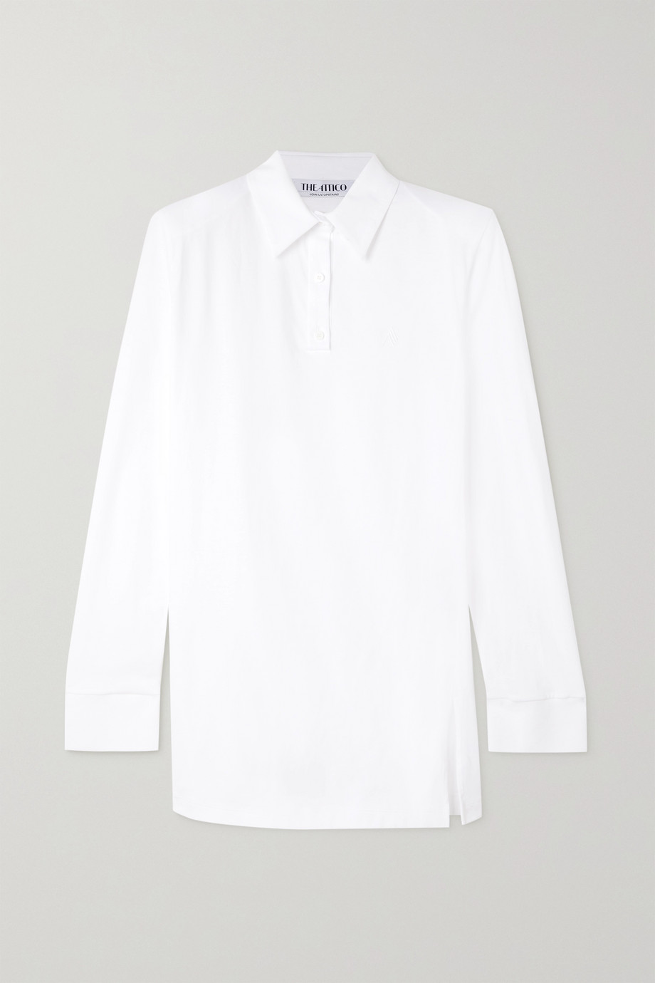 THE ATTICO Astrid cotton-piqué mini shirt dress