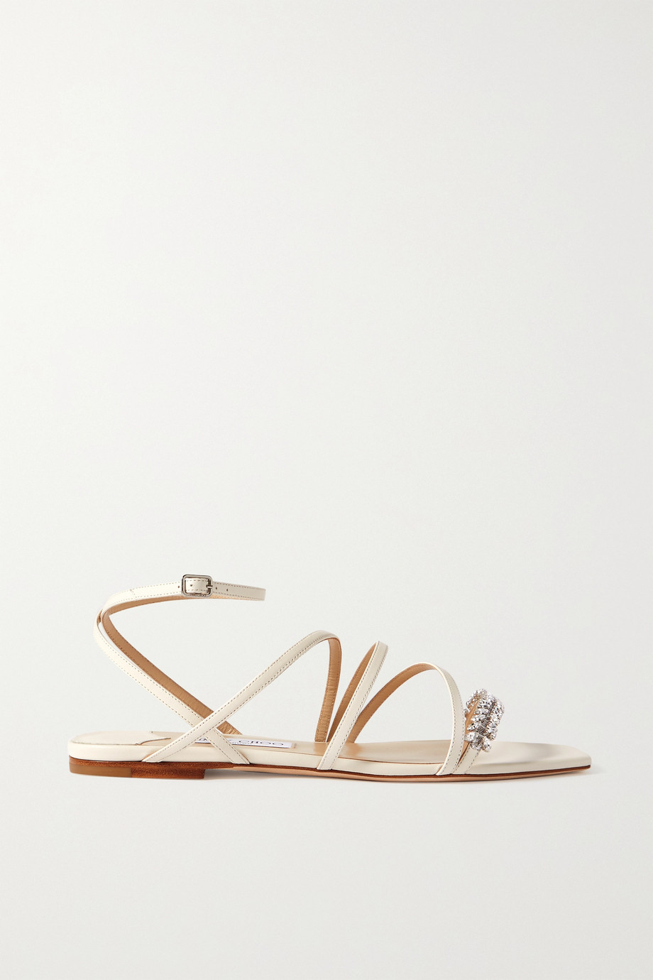 JIMMY CHOO Maesie crystal-embellished leather sandals