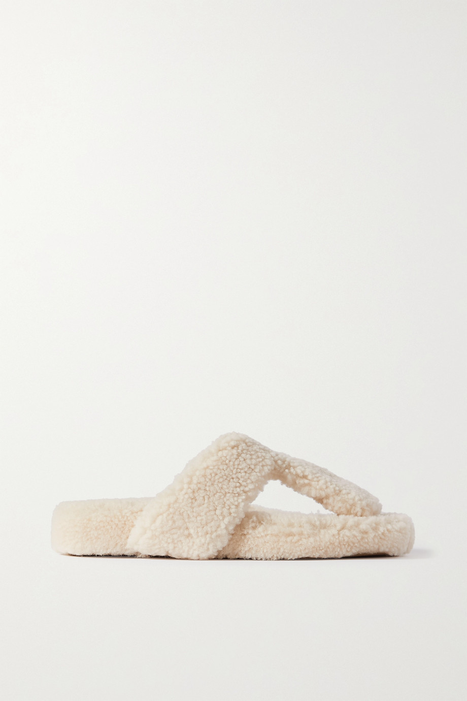 AQUAZZURA Relax shearling sandals
