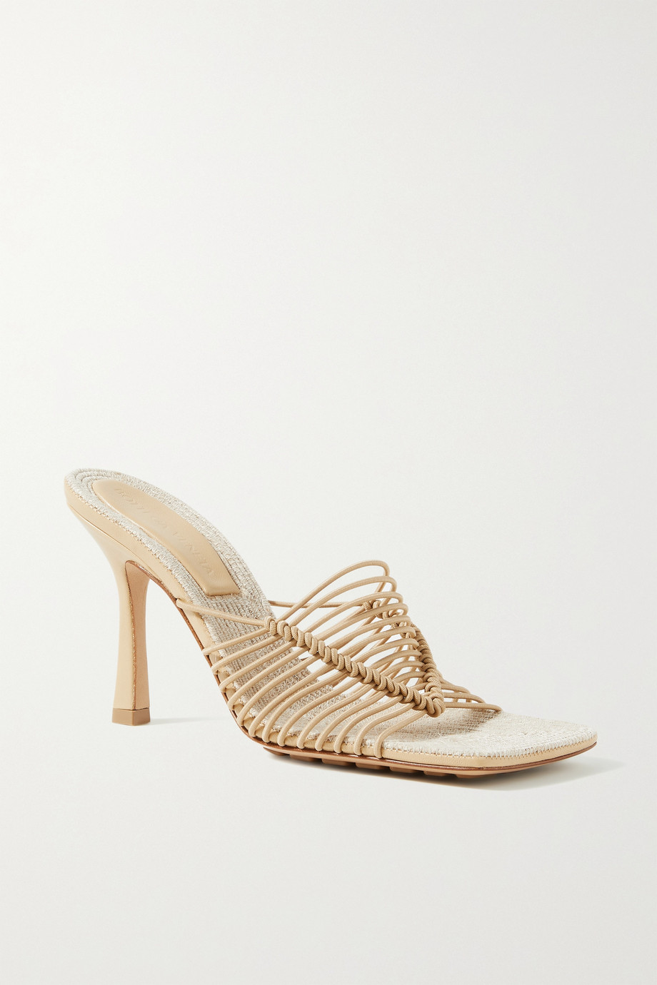 BOTTEGA VENETA Knotted cord and raffia mules
