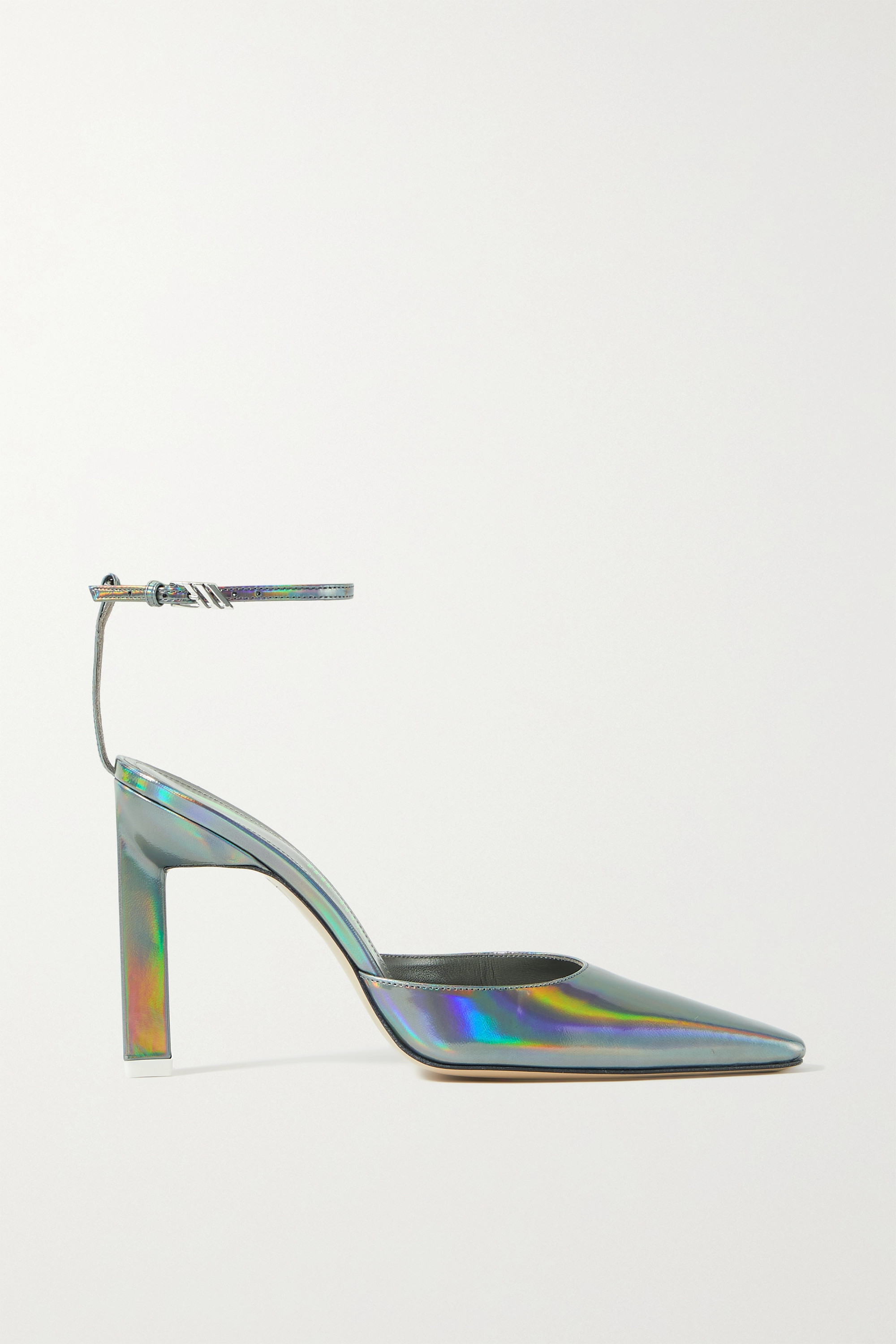 THE ATTICO Amber iridescent leather pumps