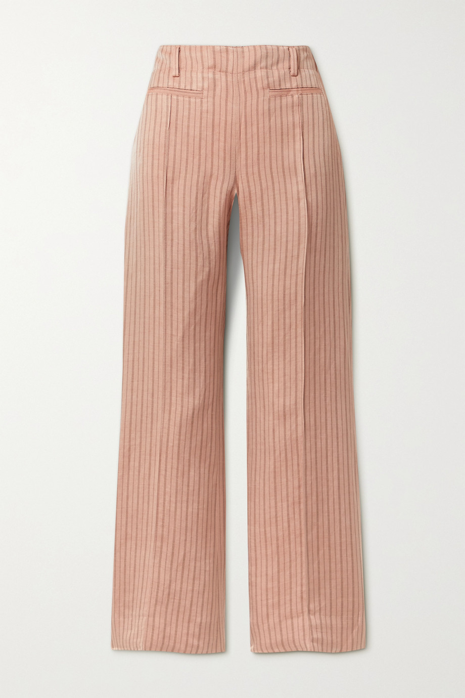 ACNE STUDIOS Pinstriped linen-blend twill bootcut pants