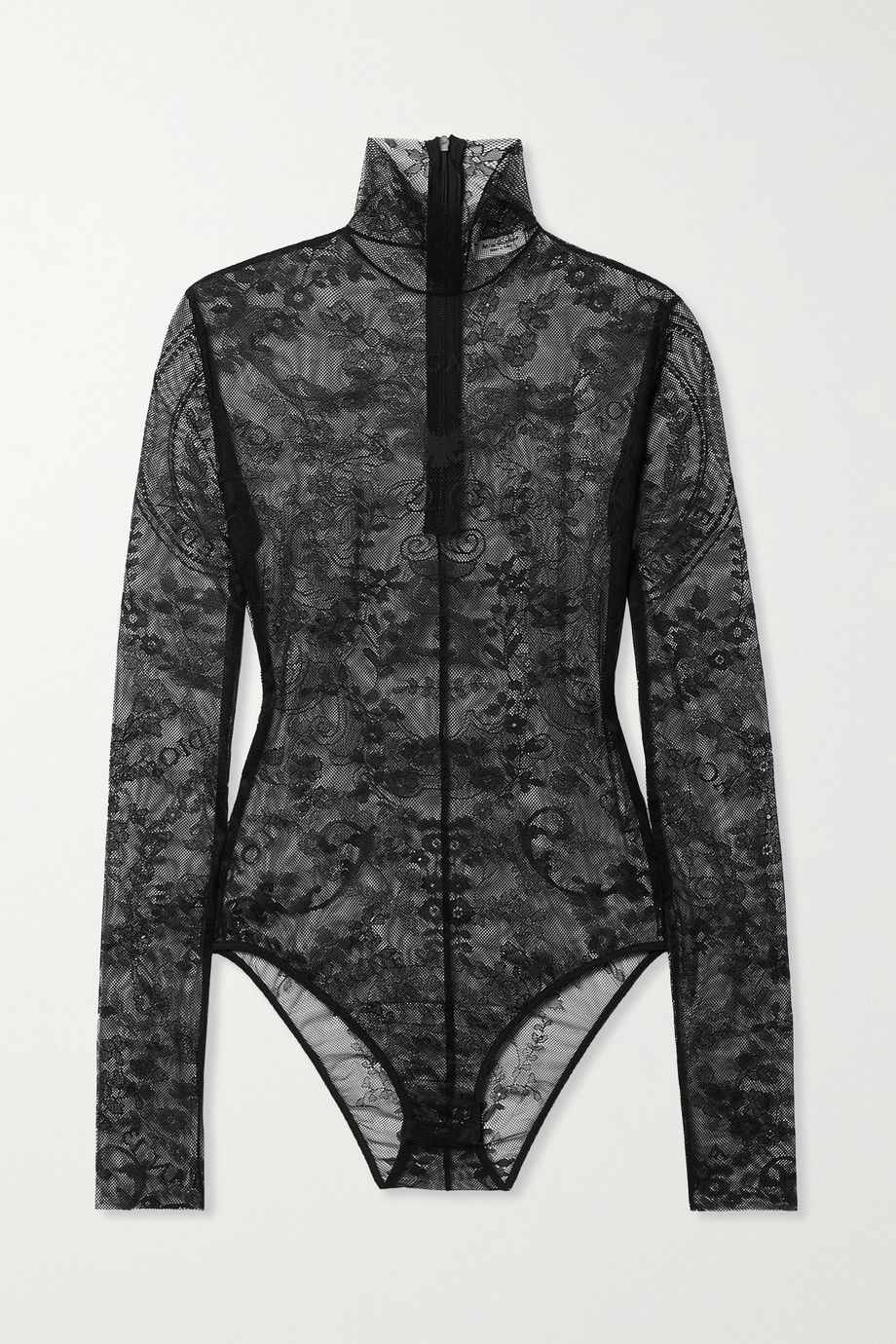 ACNE STUDIOS Stretch-lace turtleneck bodysuit