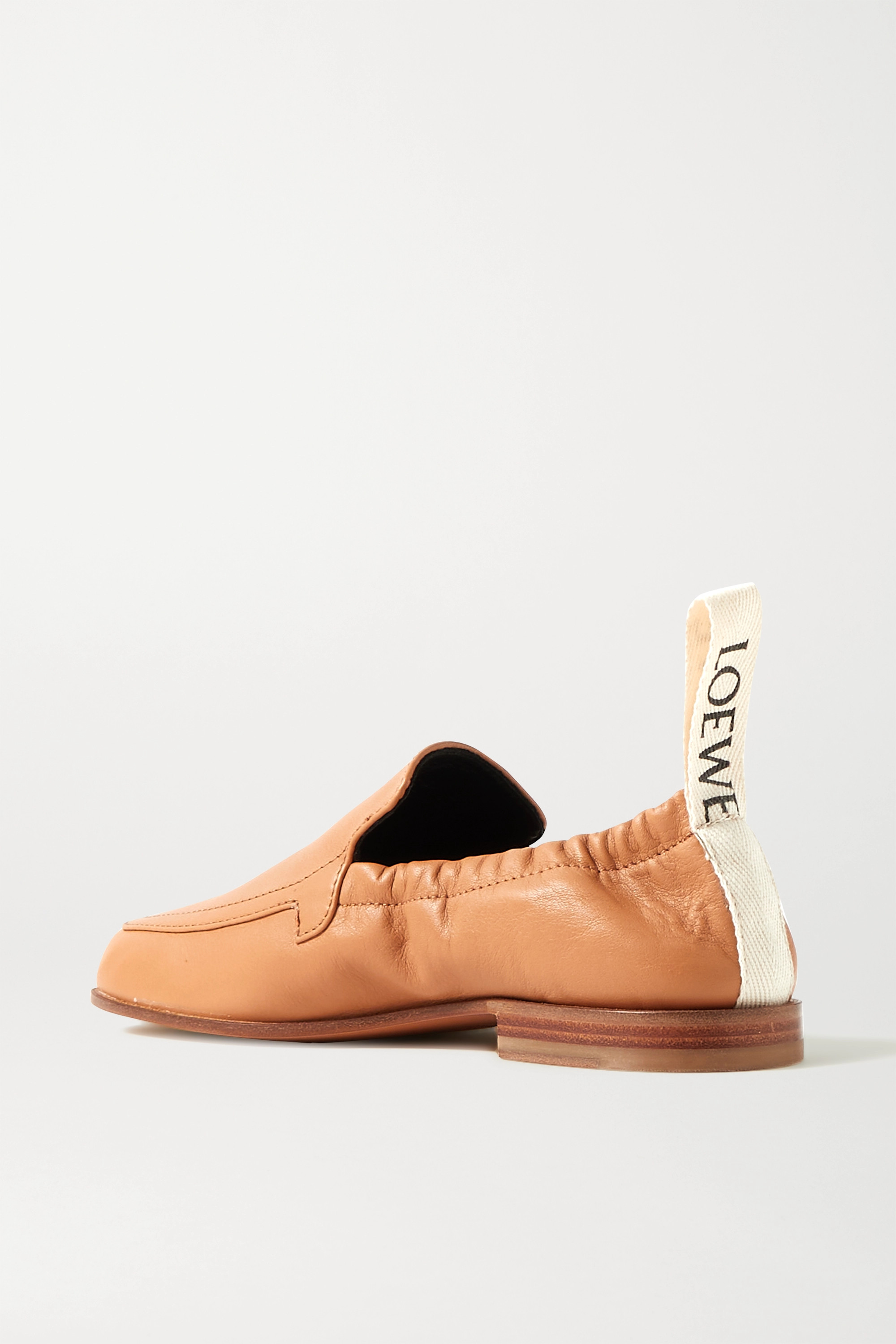 LOEWE Logo-detailed leather collapsible-heel loafers