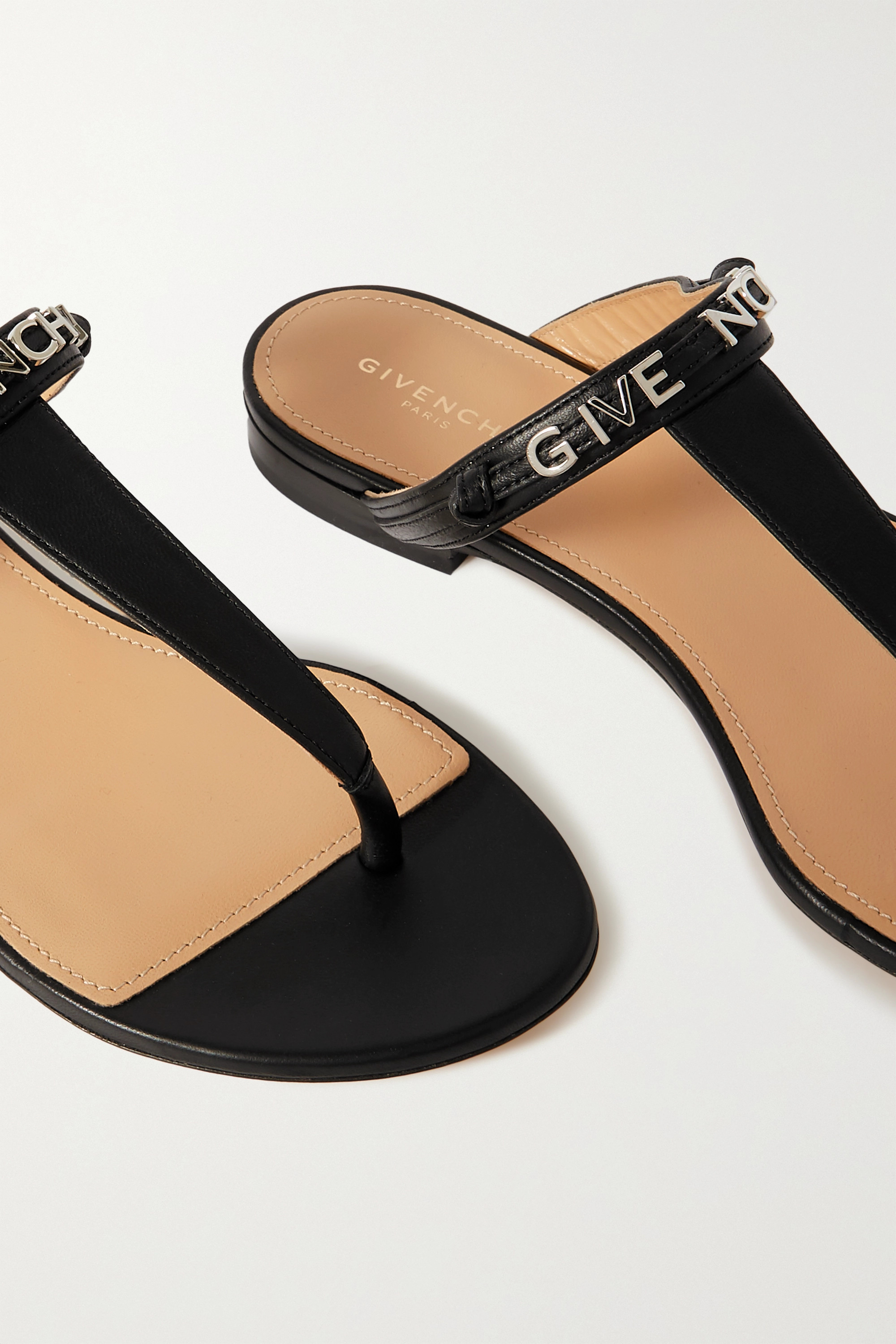 GIVENCHY Elba logo-detailed leather sandals
