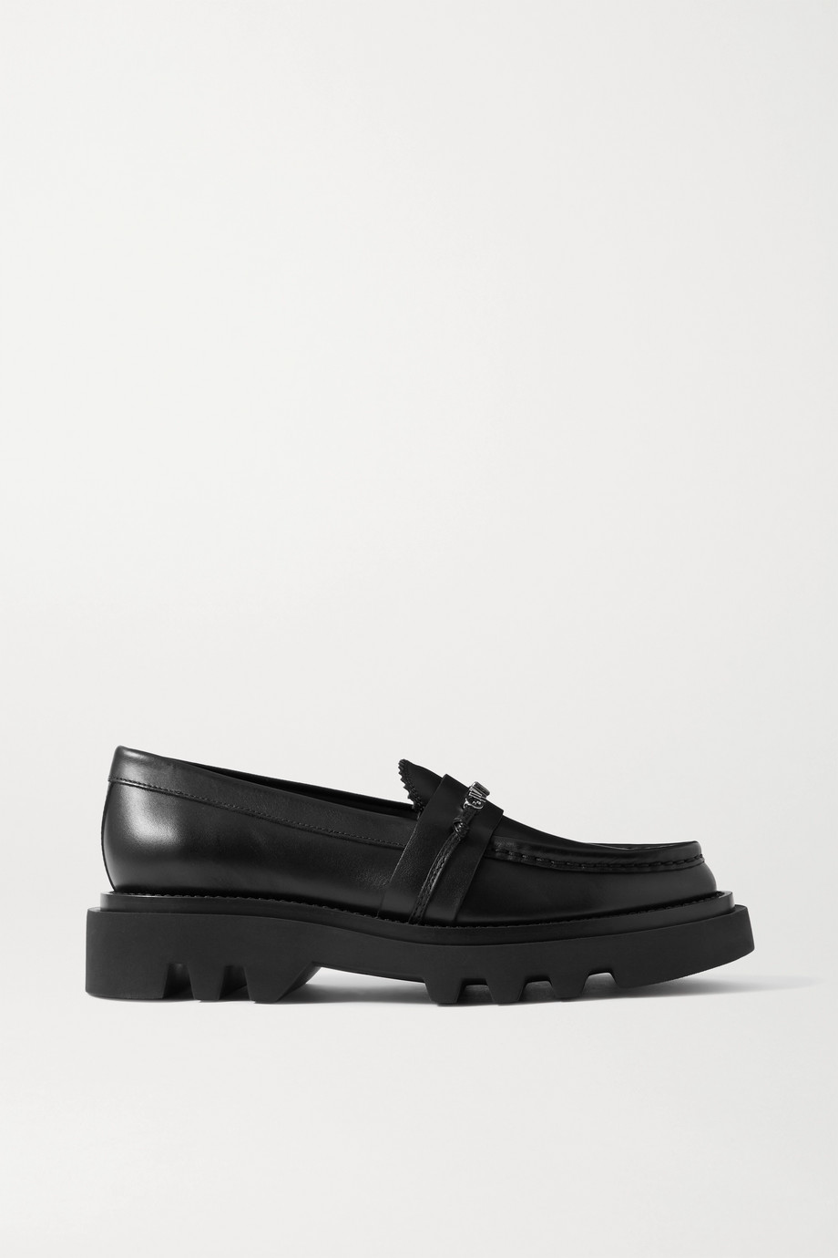 GIVENCHY Elba logo-embellished leather platform loafers