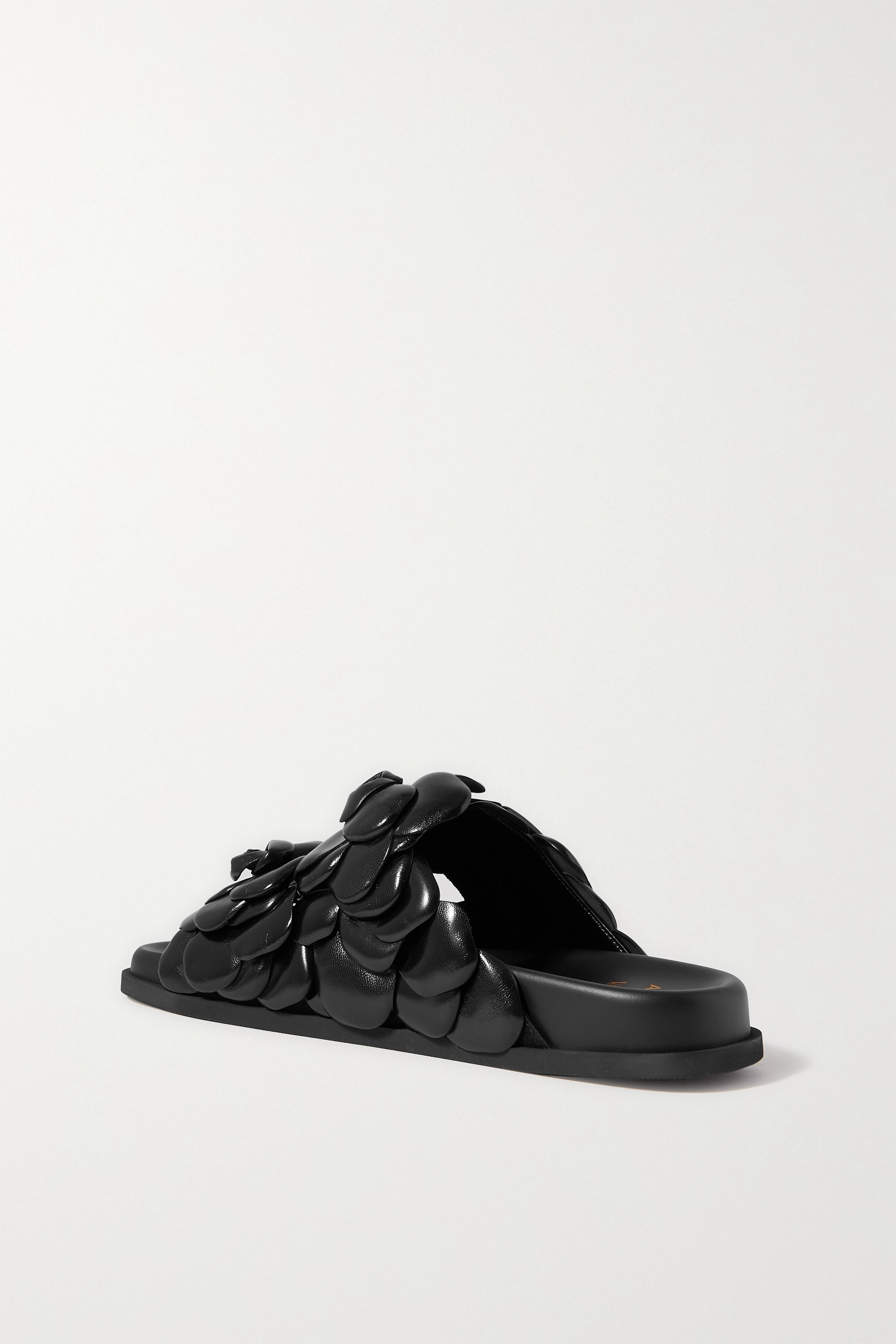 VALENTINO Rosa appliquéd leather sandals