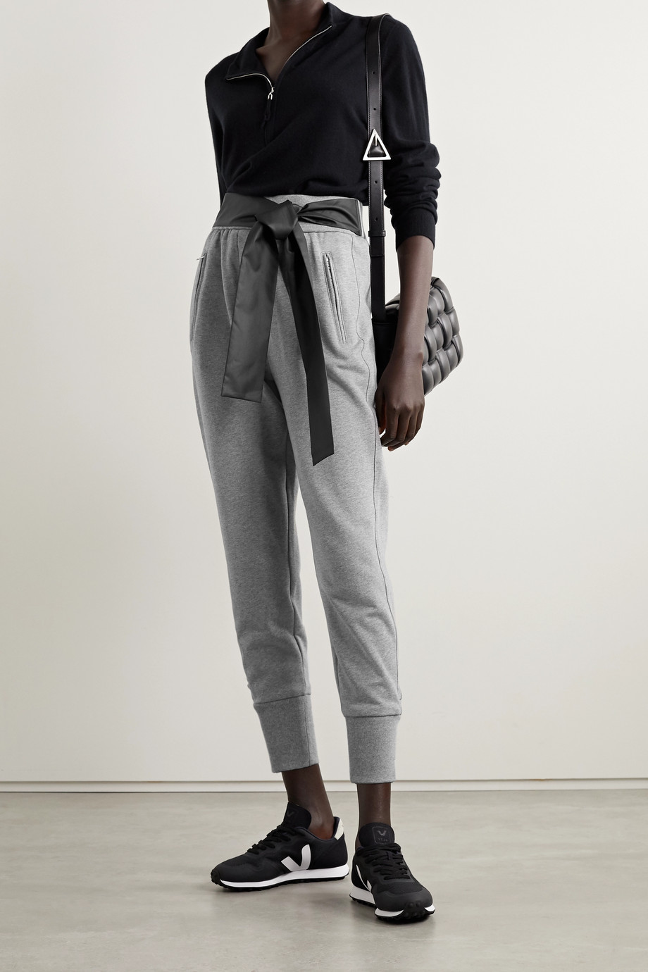3.1 PHILLIP LIM Satin-trimmed cotton-jersey track pants