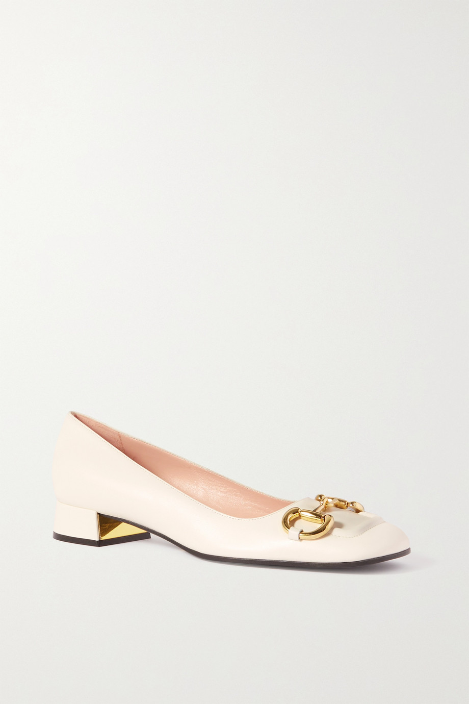 GUCCI Baby horsebit-detailed leather pumps