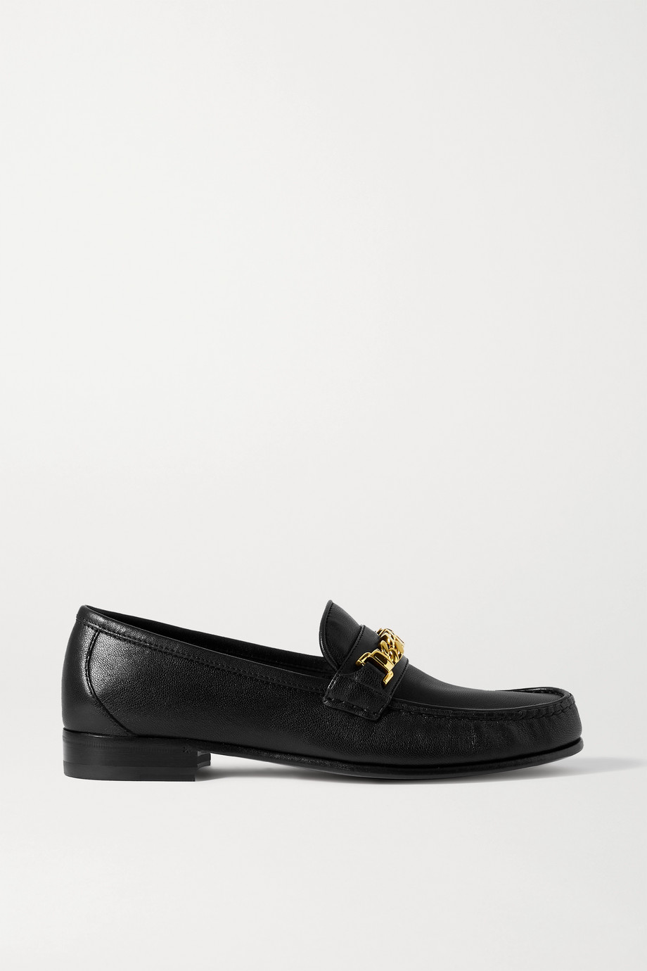 GUCCI Sylvie chain-embellished leather loafers