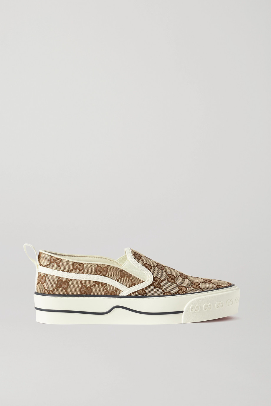 GUCCI Tennis 1977 printed canvas slip-on sneakers