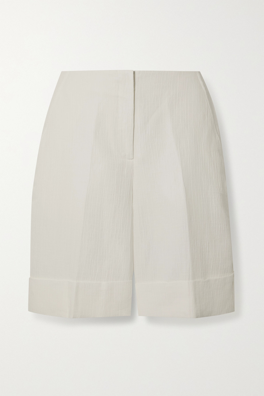 KING & TUCKFIELD Linen and cotton-blend jacquard shorts